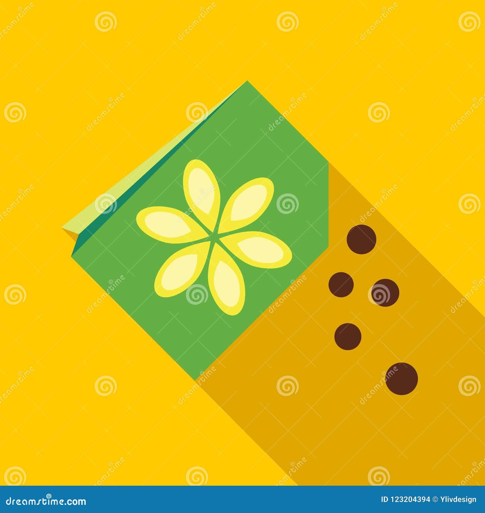 Paper Bag With Flower Seeds Icon Stock Illustration Illustration