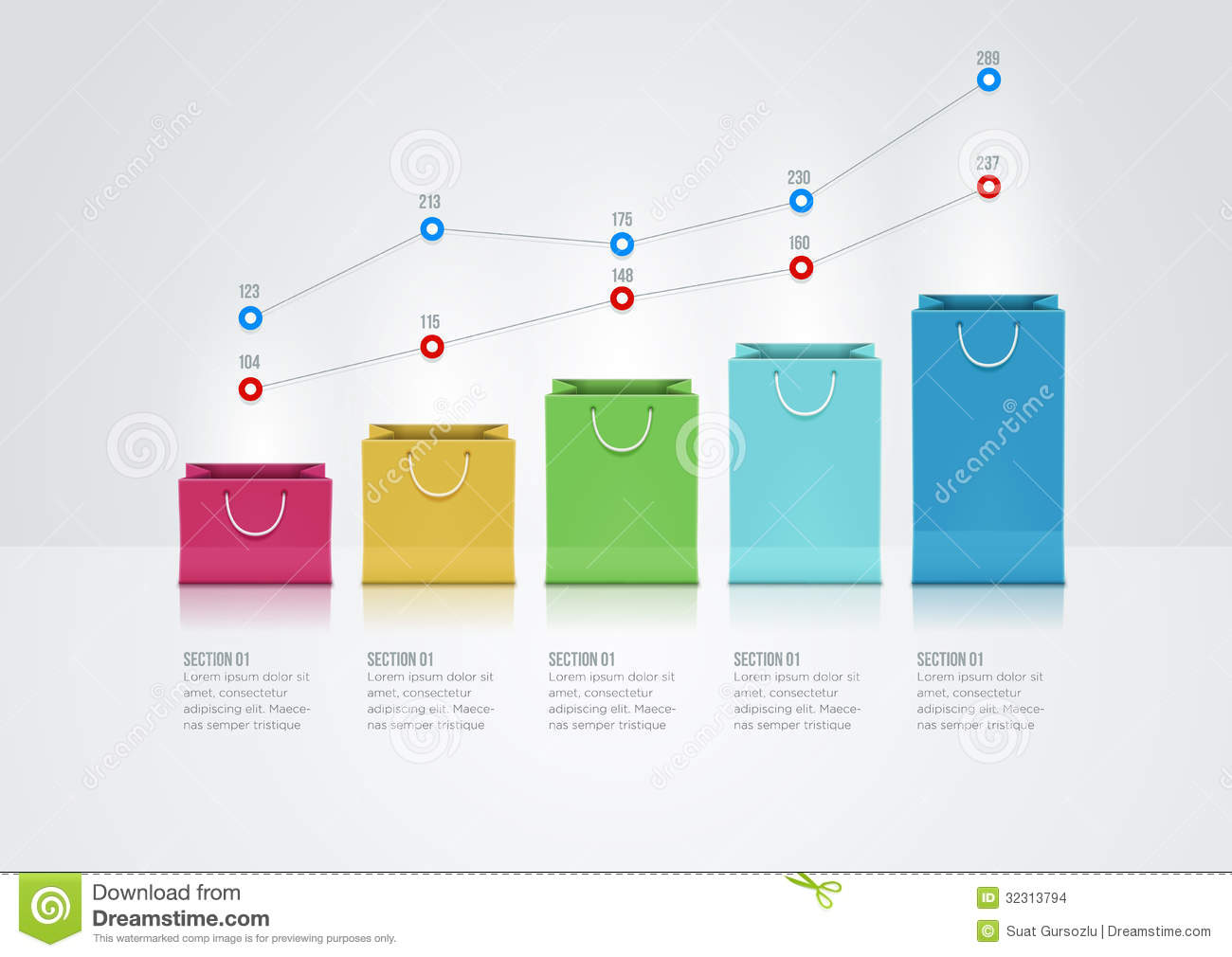 how to make a shopping bag with chart paper