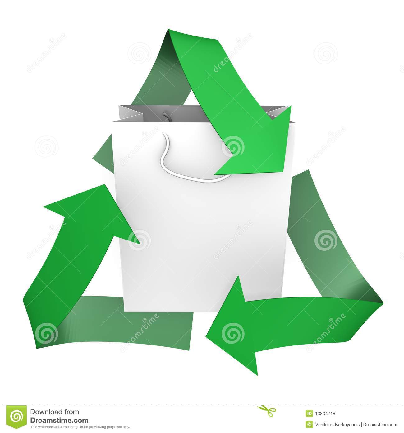 A paper bag with recycle symbol 3d image stock illustration a paper bag with recycle symbol 3d image buycottarizona