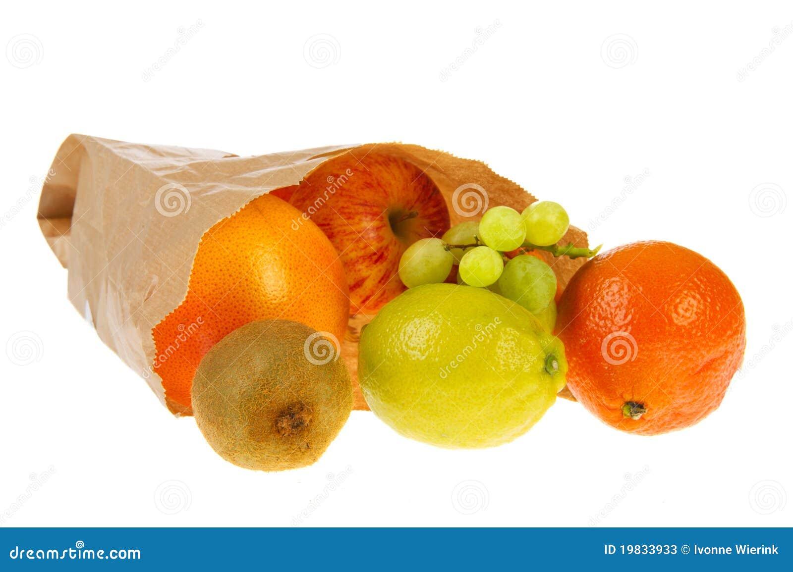 Paper Bag With Various Fruit Stock Photos Image 19833933