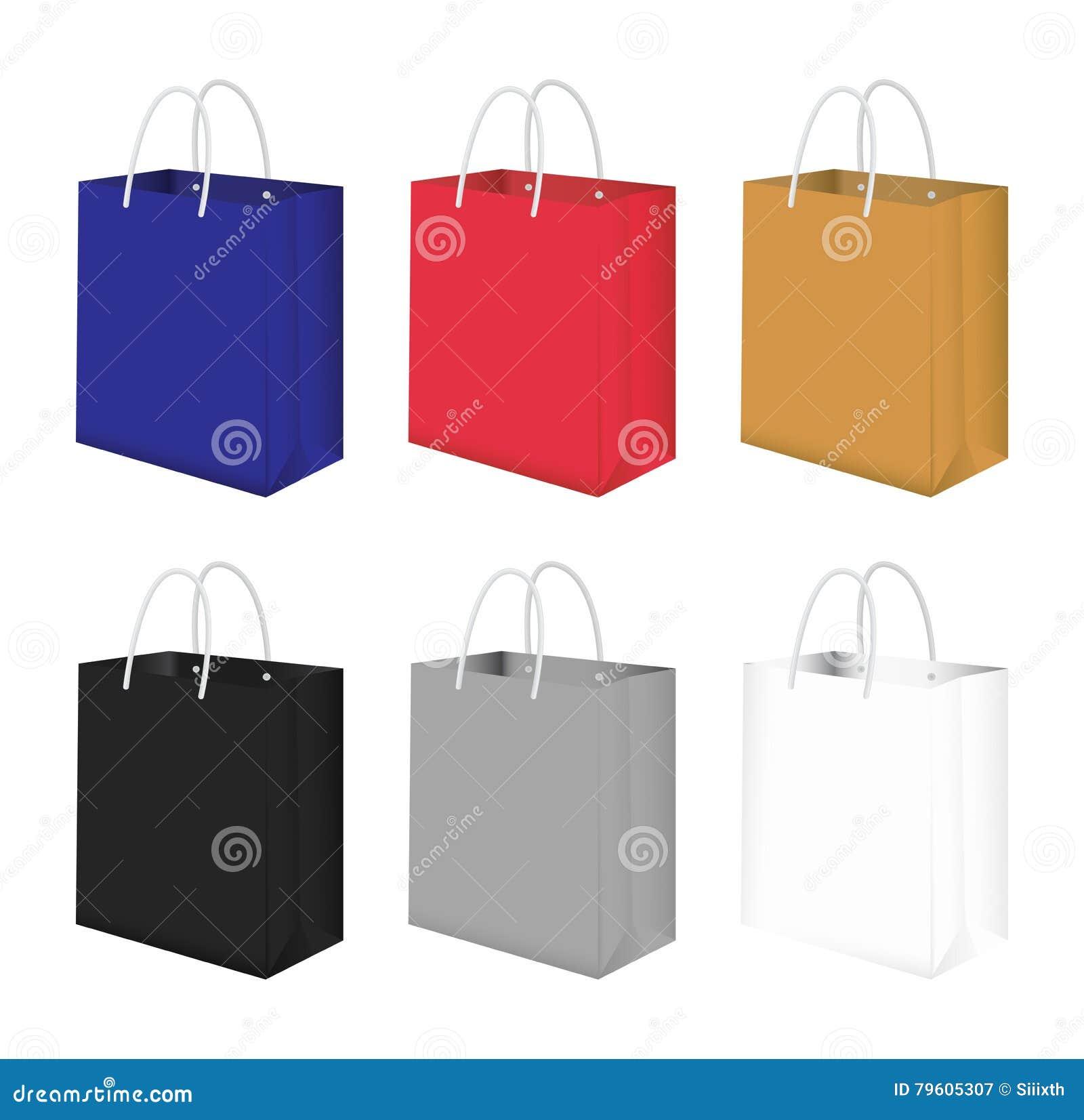 Paper bag vector - Paper Bag Vector