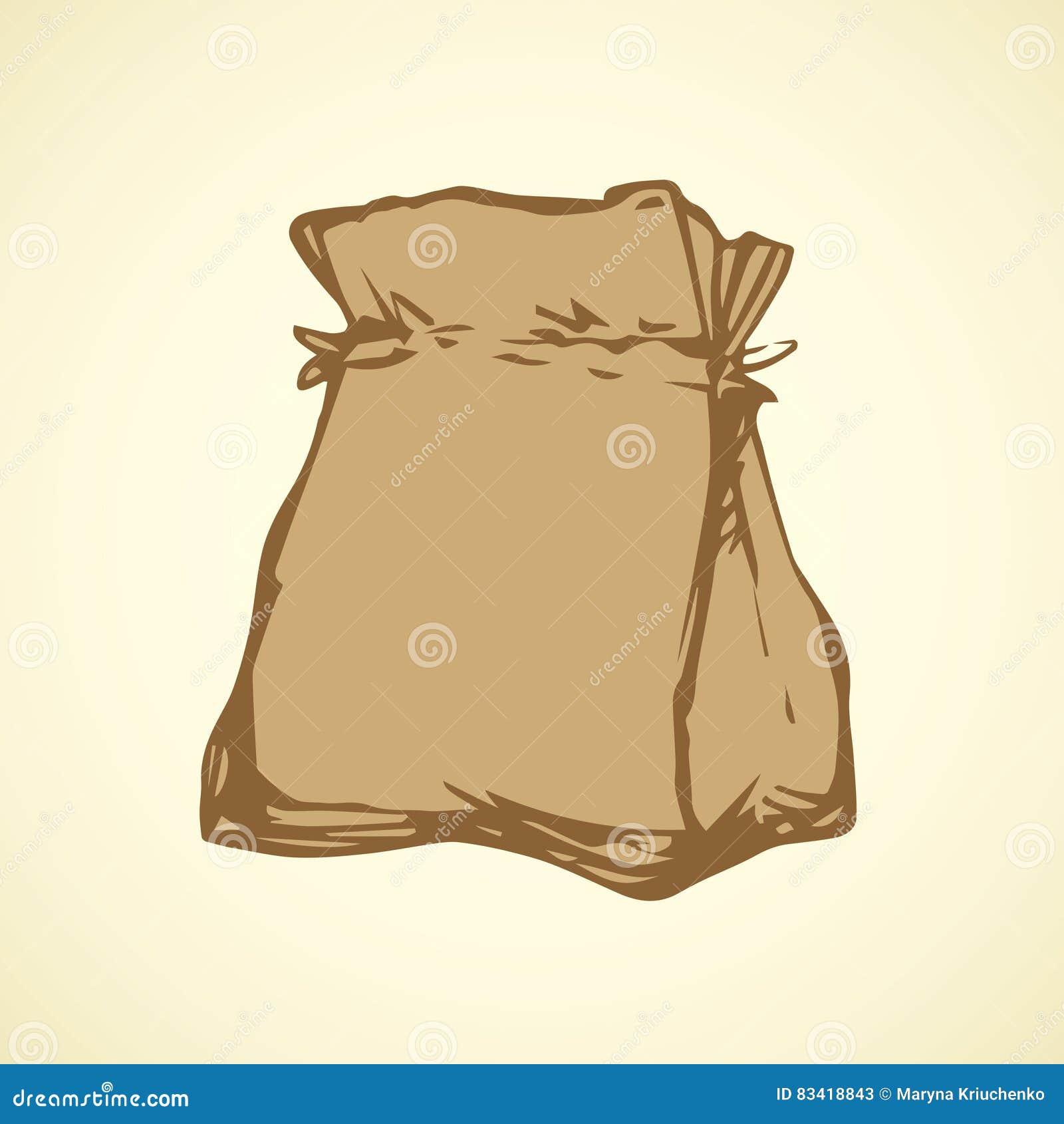 Paper bag vector - Paper Bag Vector Drawing