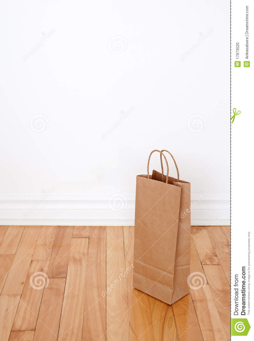 Paper bag on wooden floor stock photo image of grocery for On the floor on the floor