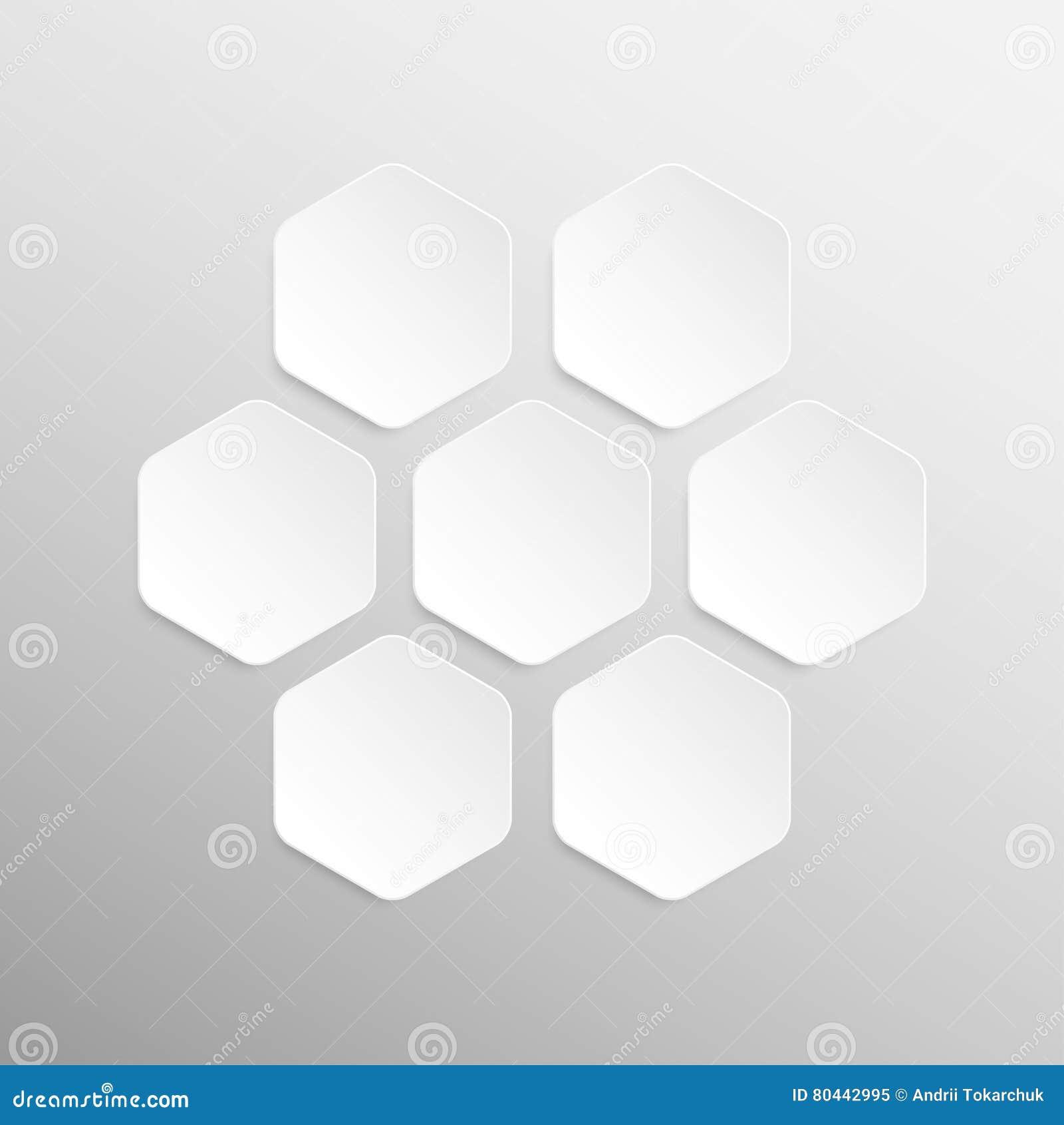 paper banner design vector mockup hexagon stock vector
