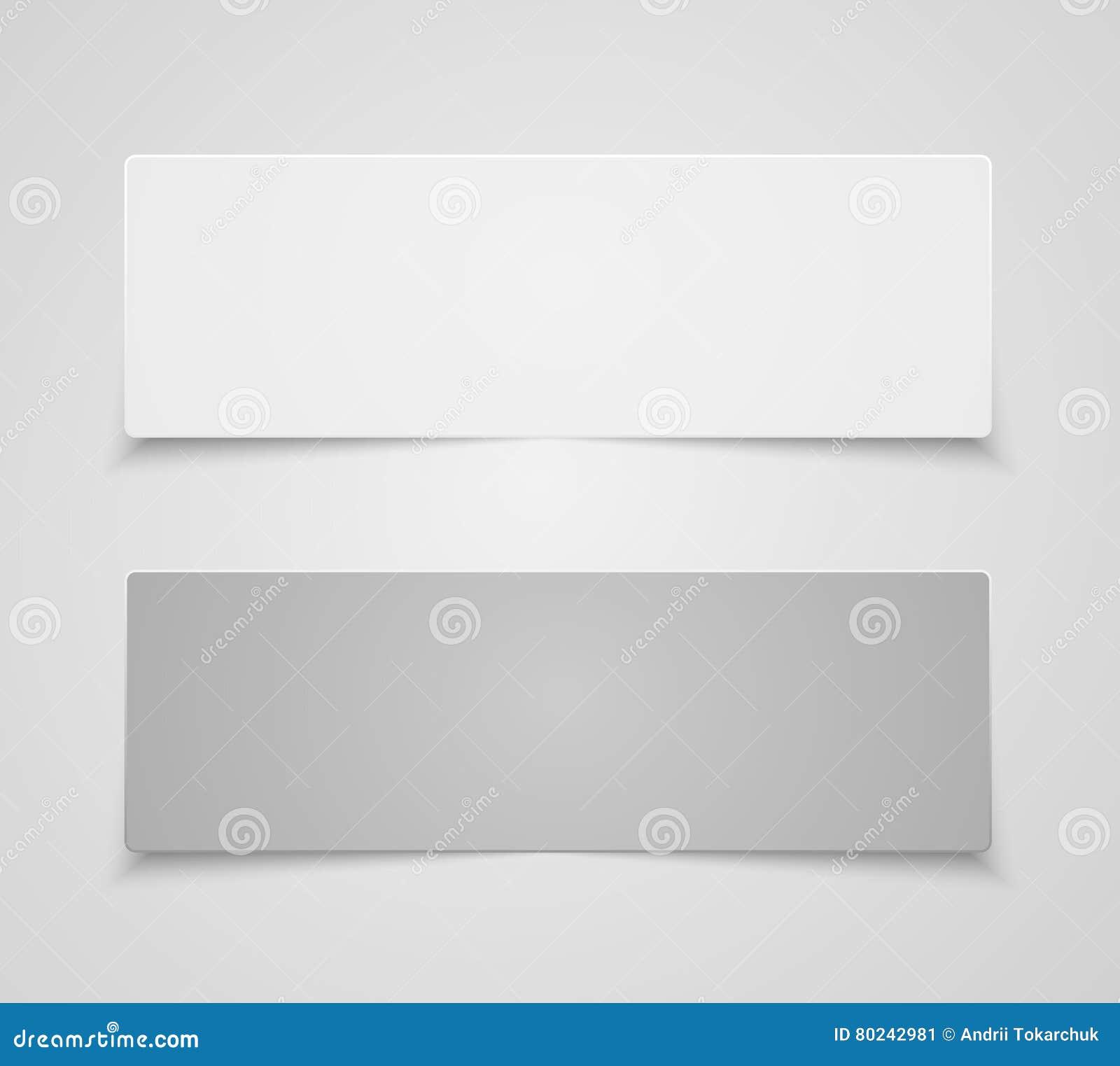 paper banner design vector mockup rectangle stock vector