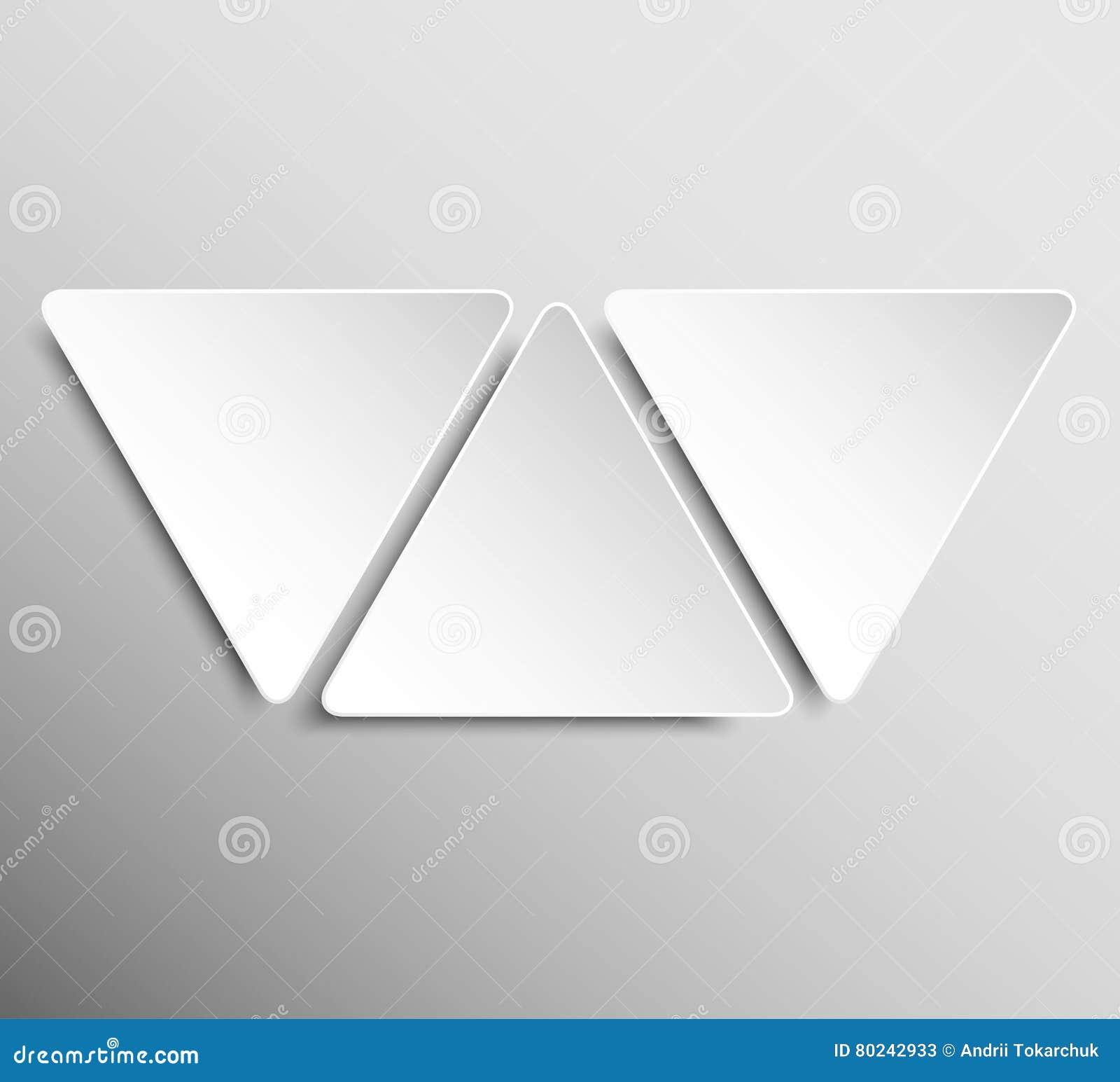 paper banner design vector mockup triangle stock vector