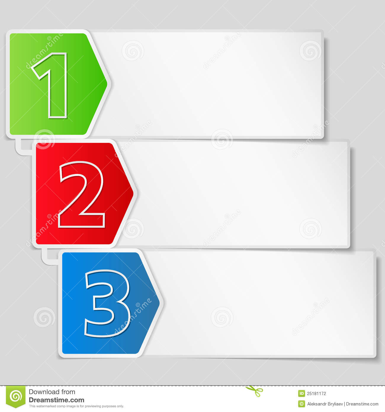 Paper banner with three steps stock photography image 25181172