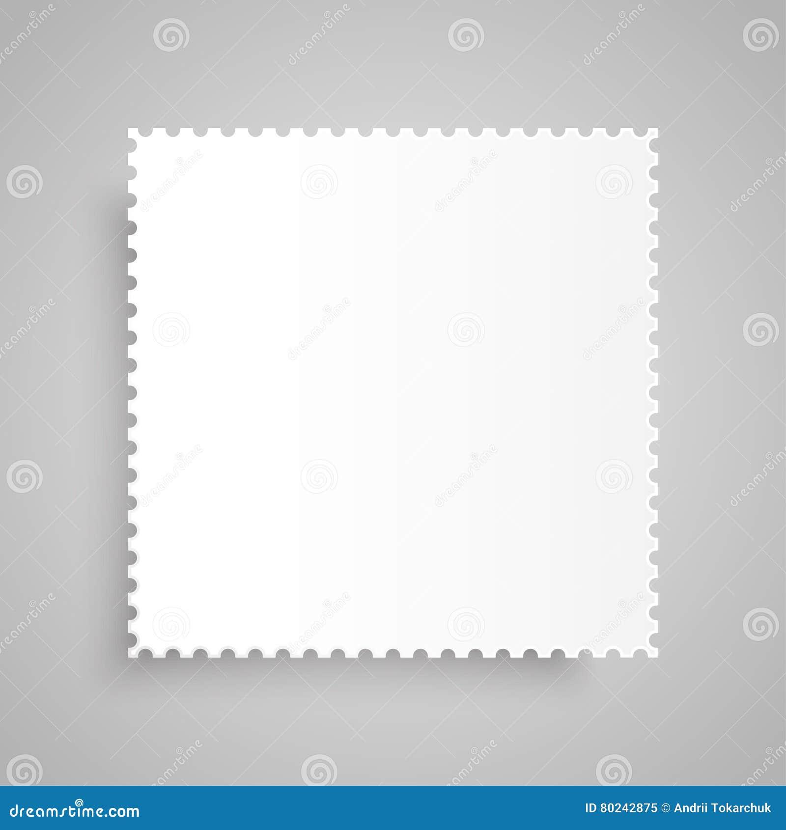 paper banner vector mockup postage stamp stock vector