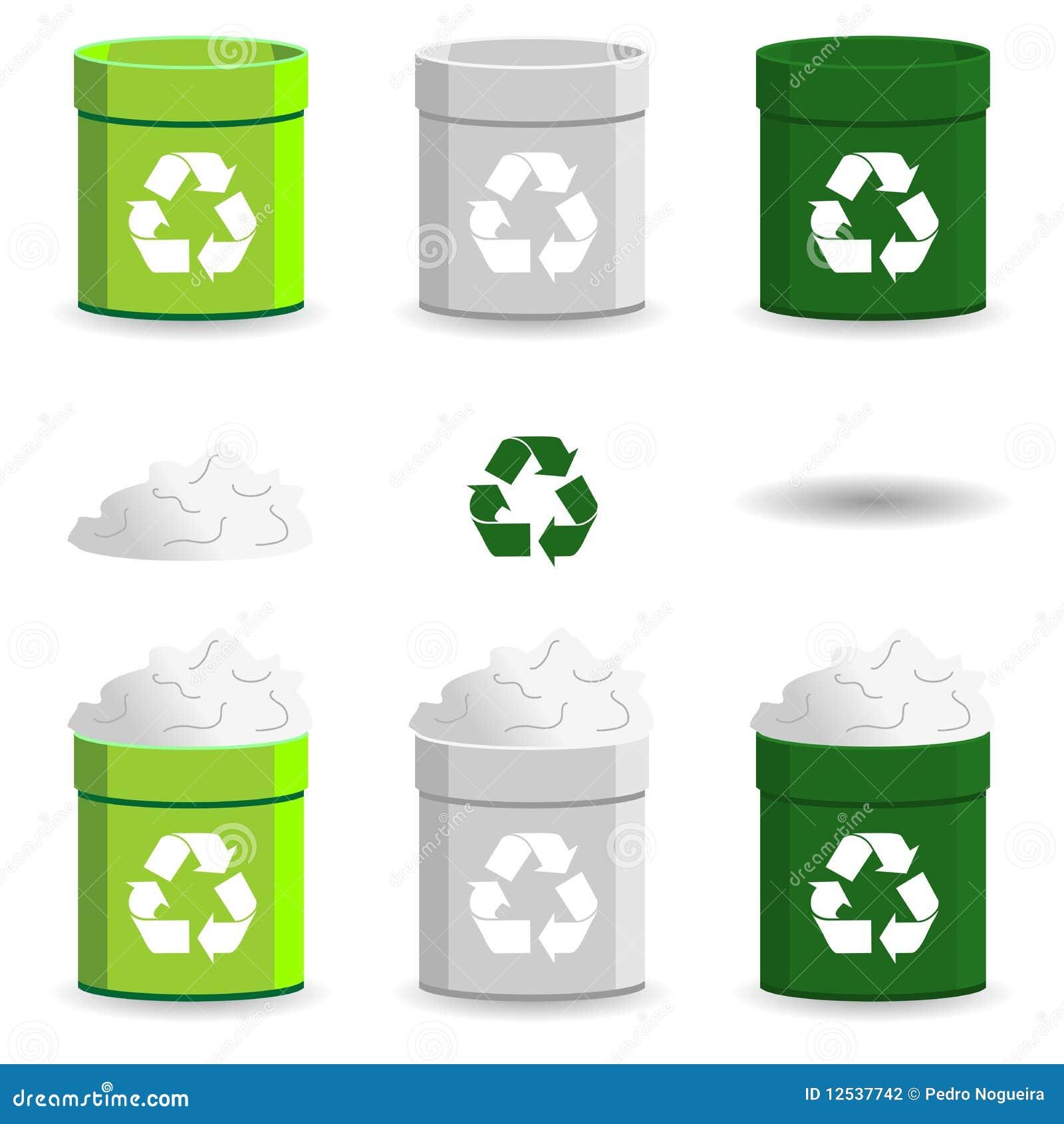 Paper basket stock photography image 12537742 - Basketball waste paper basket ...
