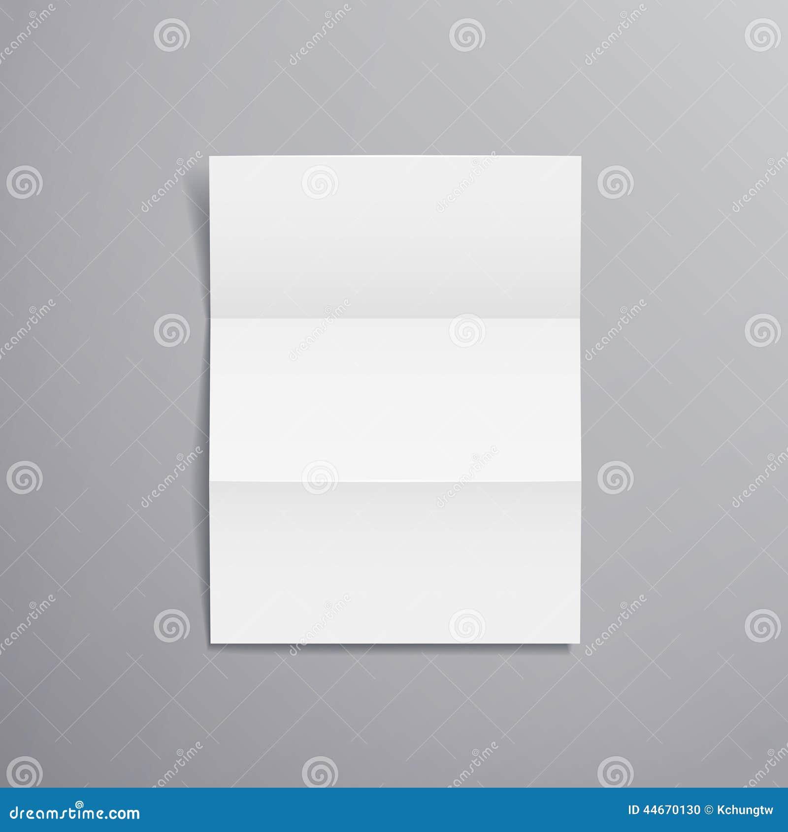 Paper Blank Brochure Template Stock Vector Illustration Of Element
