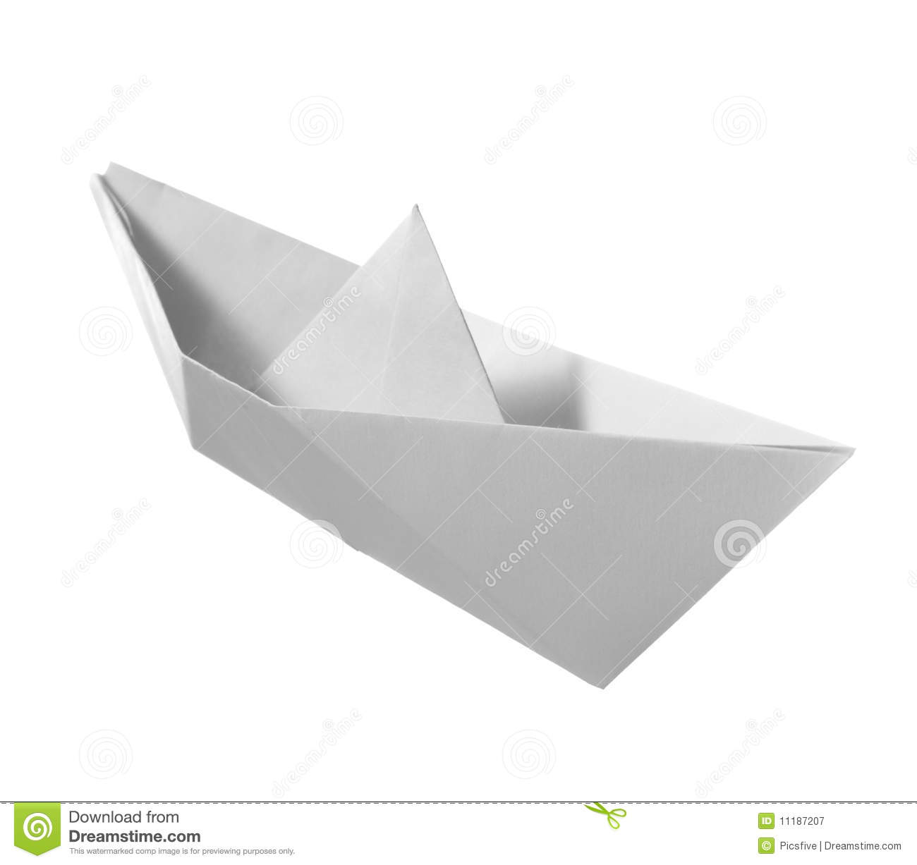 paper boat childhood float toy stock image image of childish