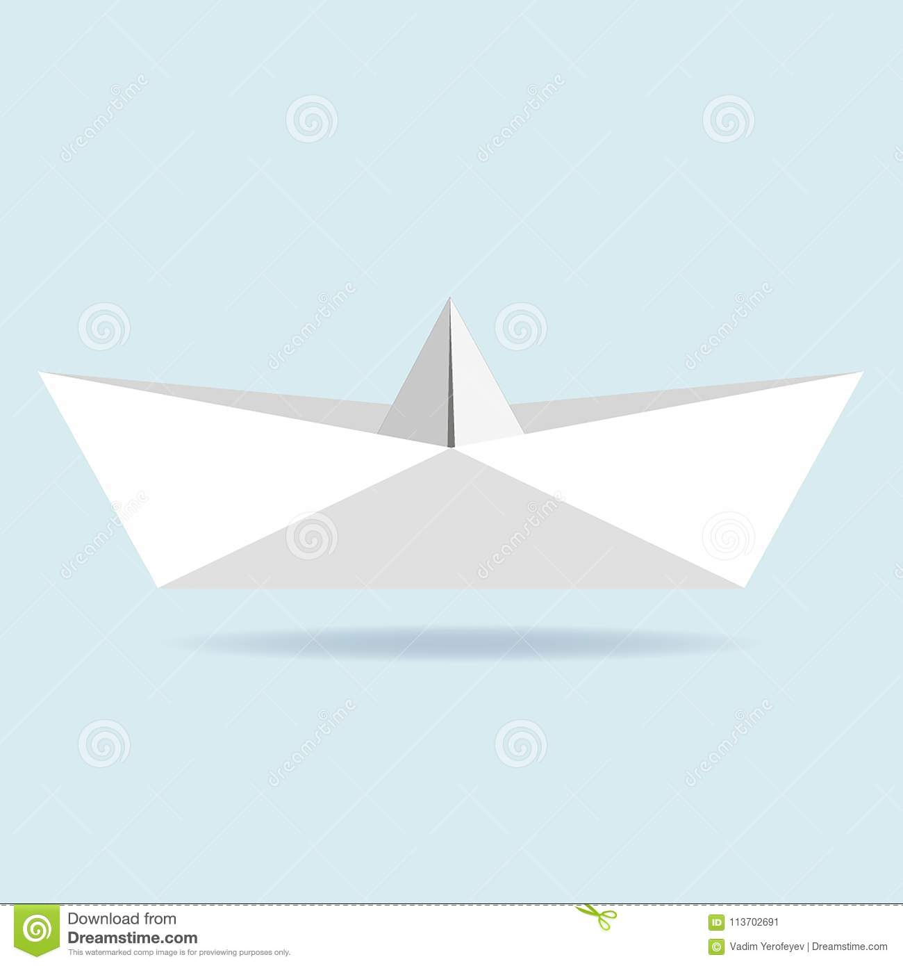 Origami Paper Boat Vector Stock Vector Illustration Of Isolated