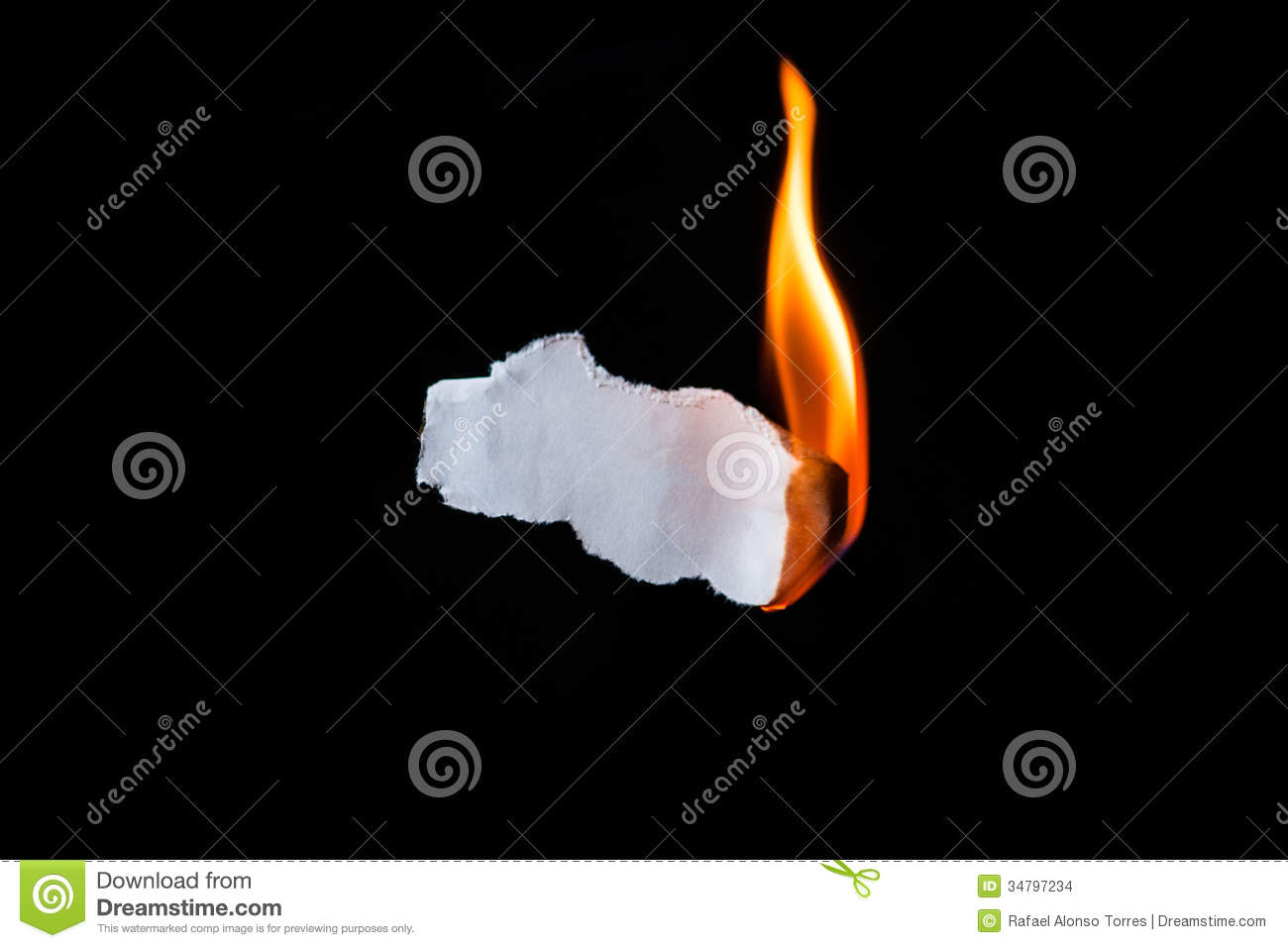 Paper Burning Stock Images