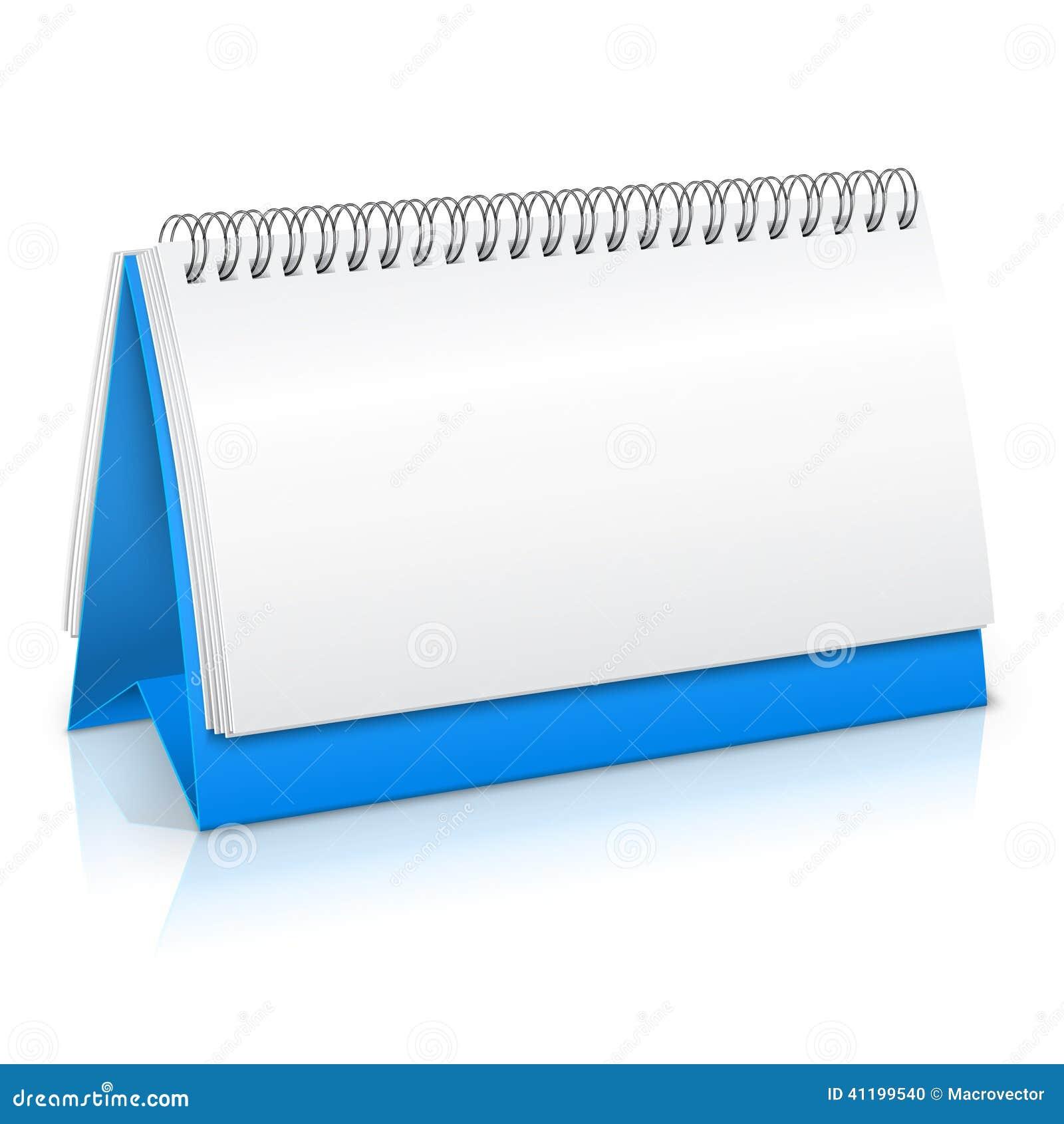 Paper Calendar Mockup Stock Vector Image Of Border