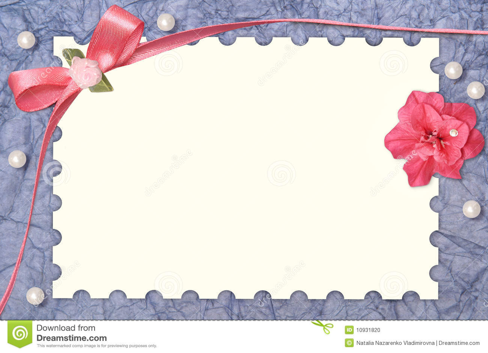 Paper Card With Design Frame Stock Illustration - Illustration of ...
