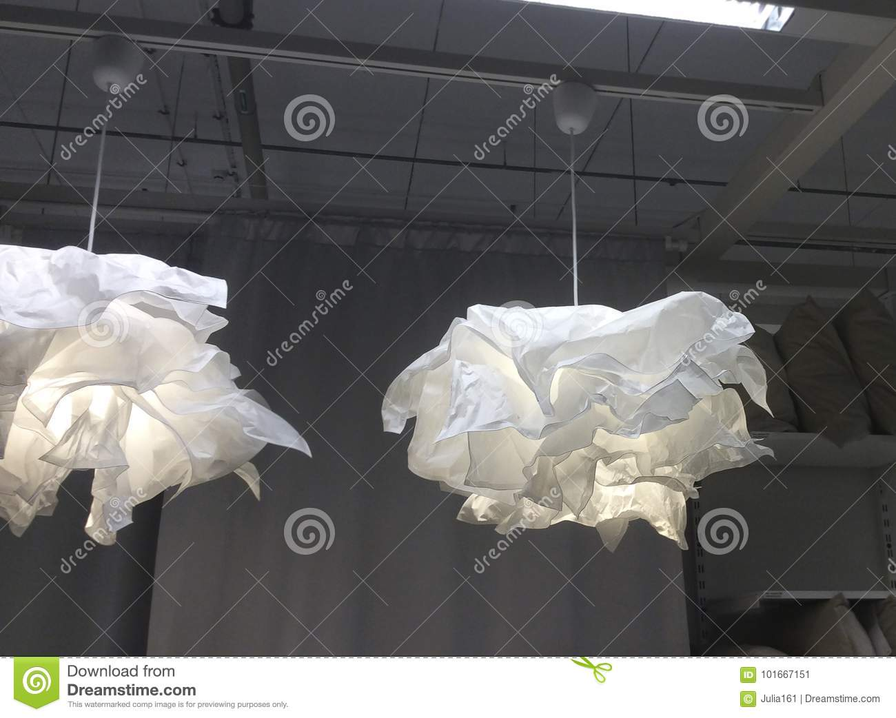 Paper Chandeliers In Ikea Shop Editorial Photo Image Of Russia