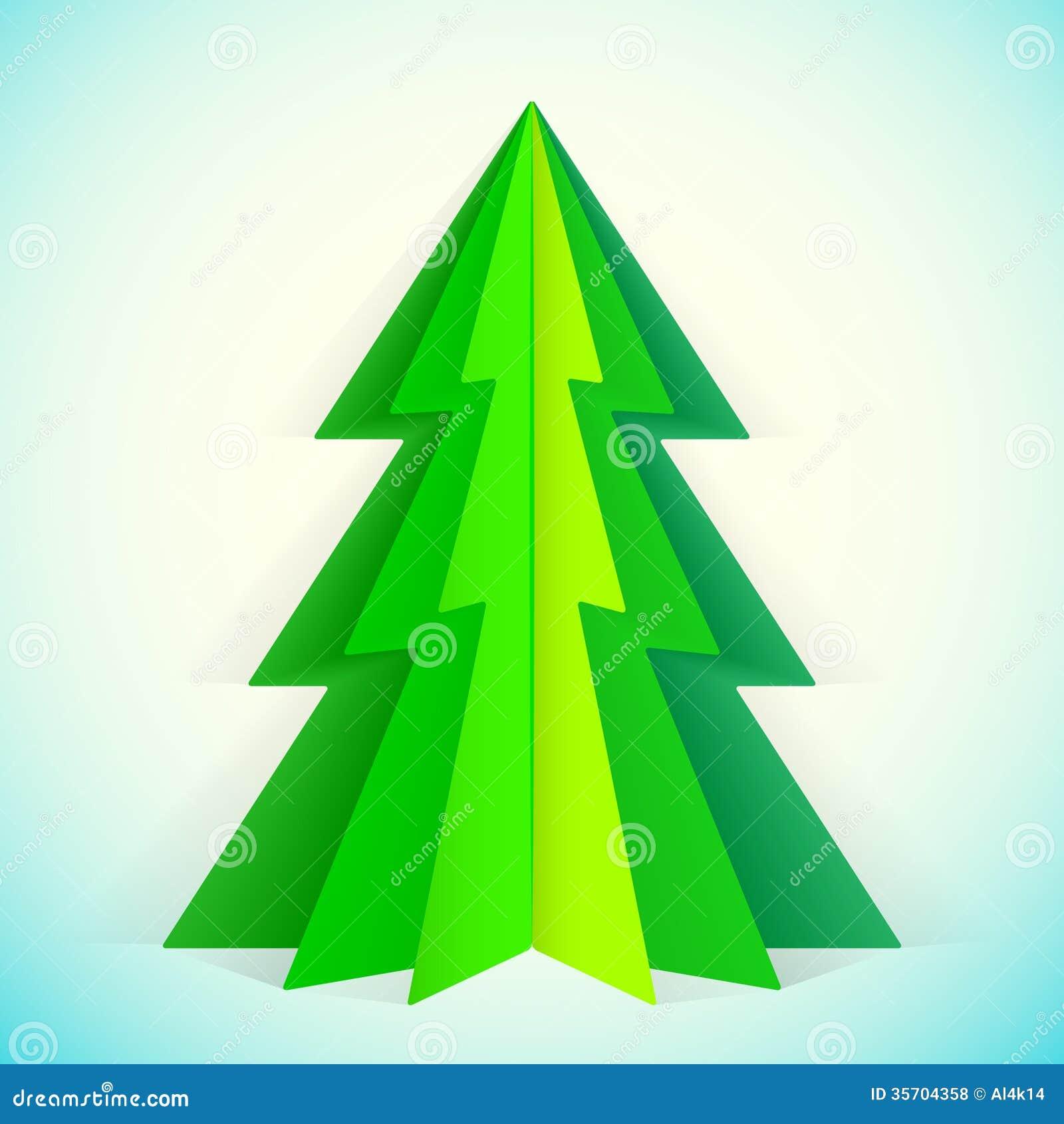 Paper Christmas Tree Royalty Free Stock Photos - Image: 35704358