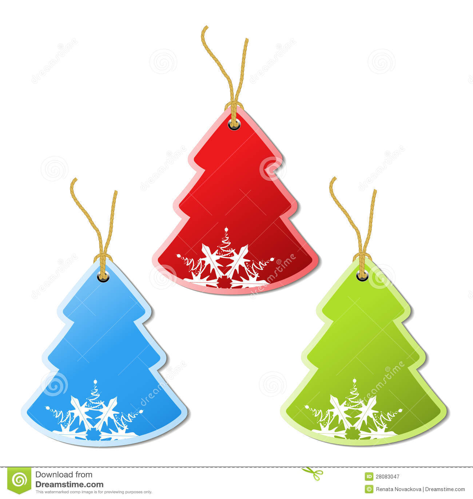 Paper Christmas Tree, Tag - Snowflake Decoration Royalty Free ...
