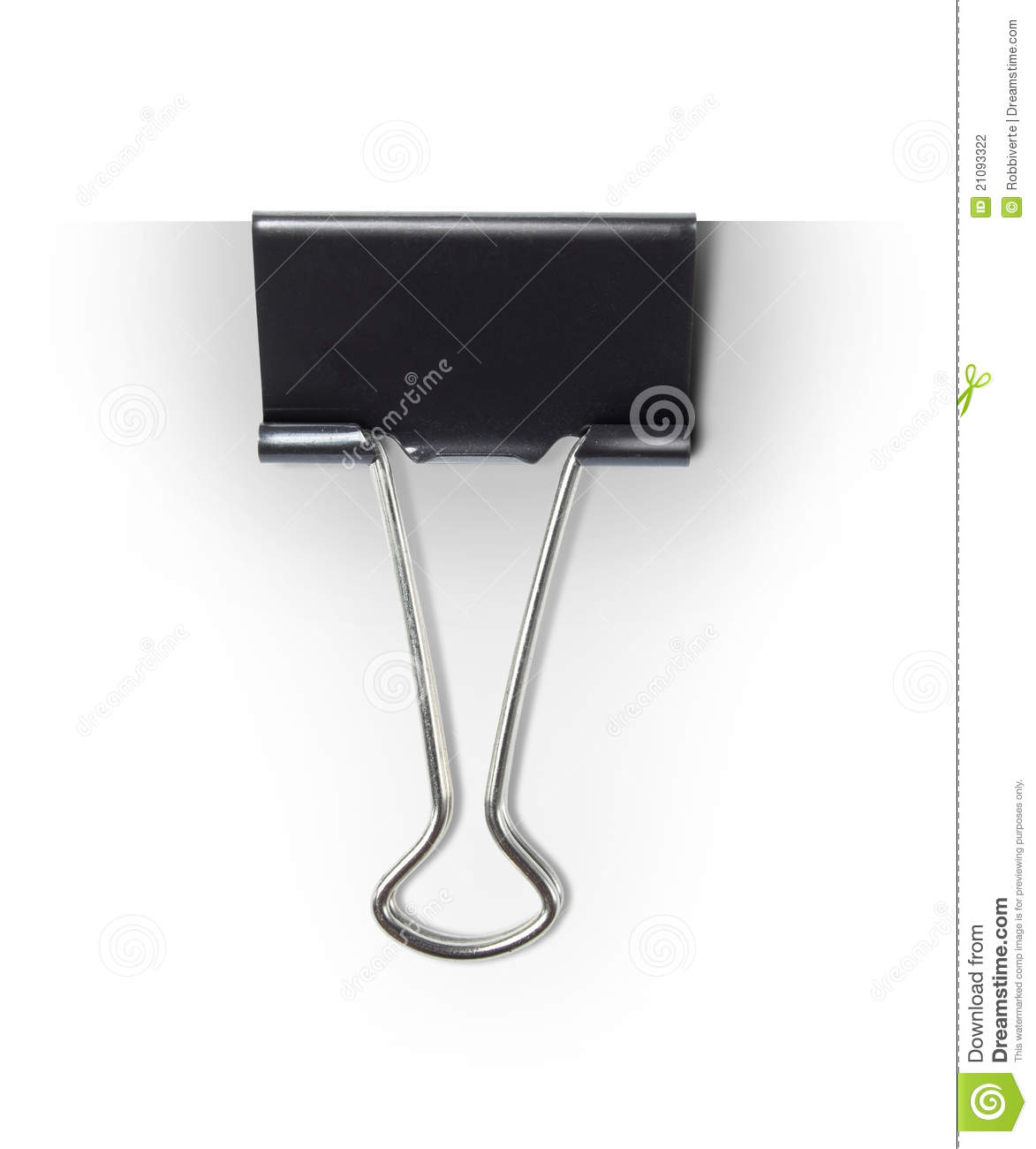 Paper Clip Stock Photo Image Of Closeup Isolated