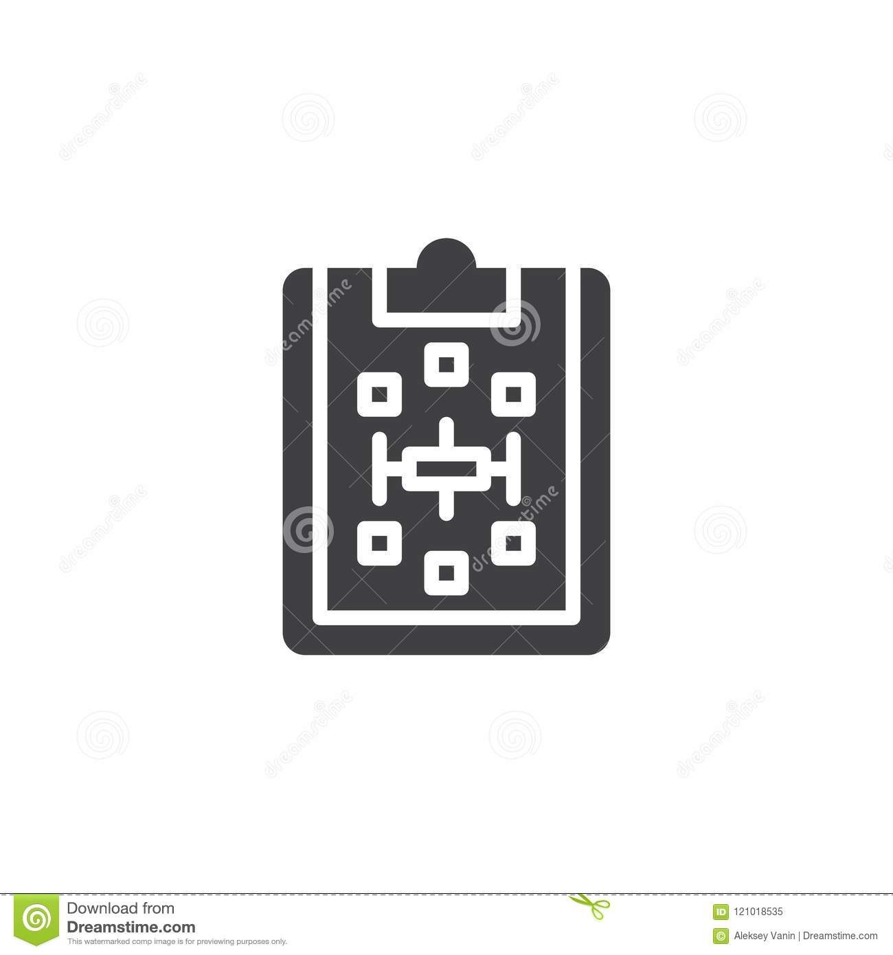 Paper clipboard with scheme vector icon