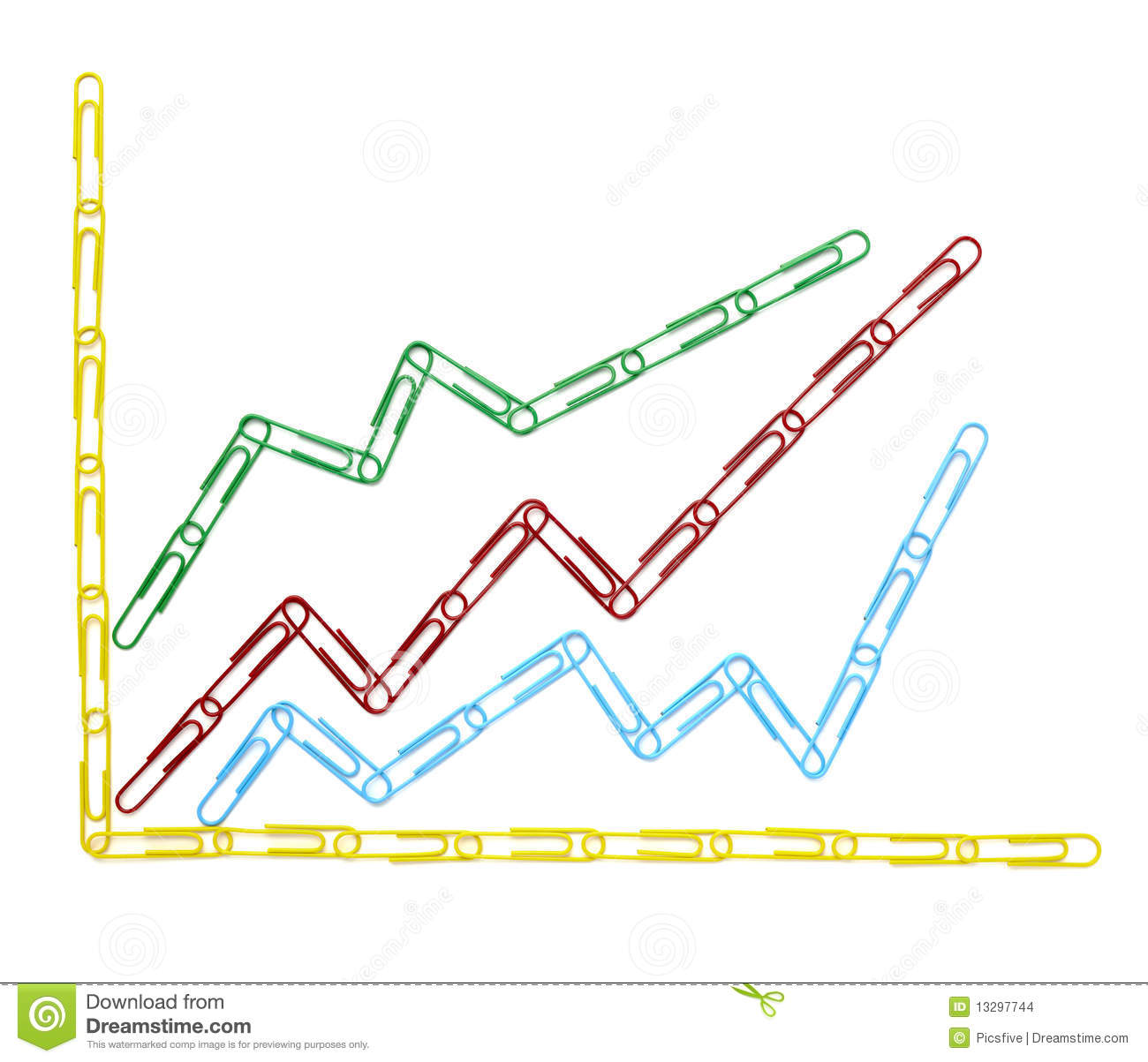 Finance Graph: Paper Clips Chart Graph Finance Business Stock Images