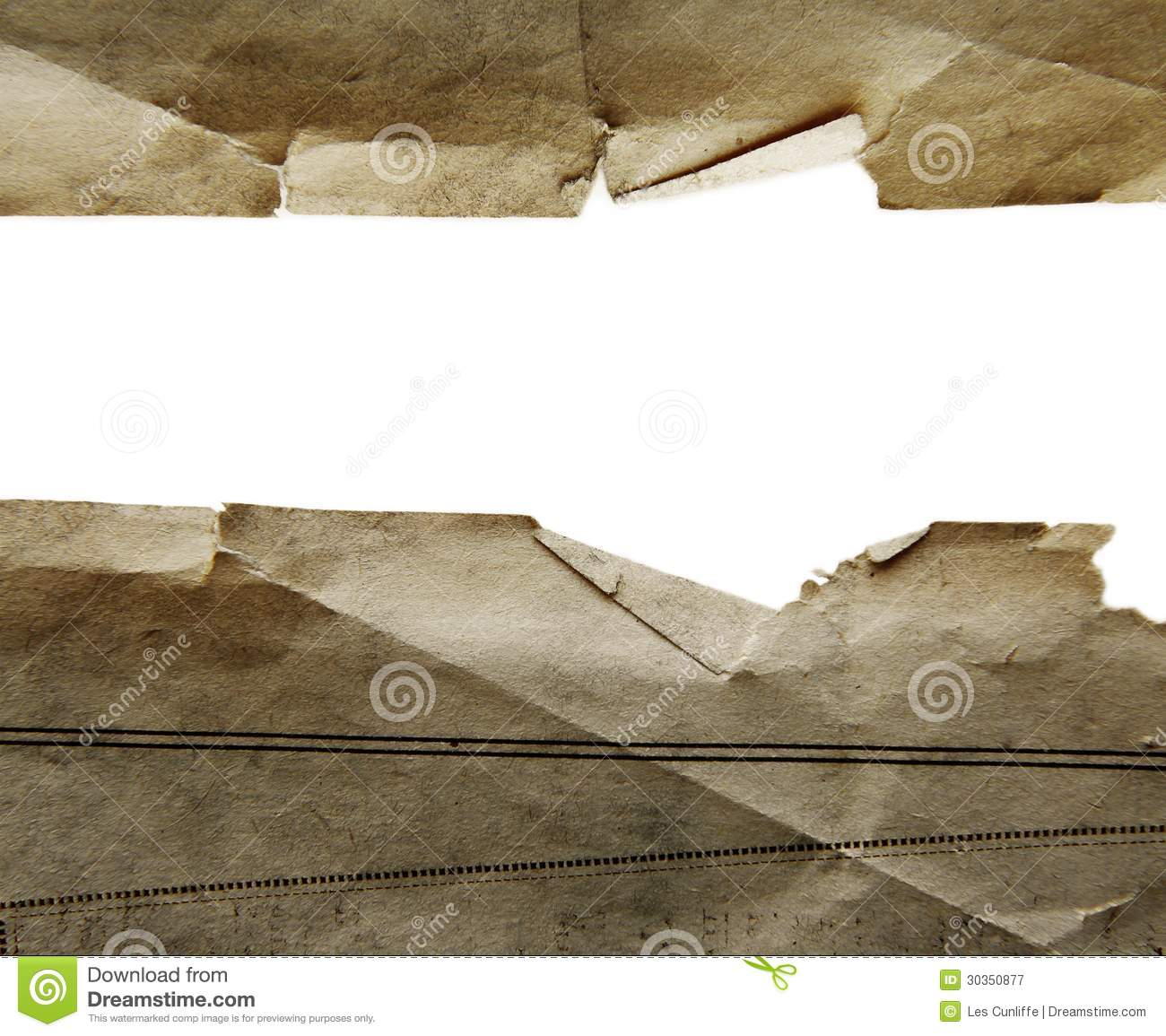 Ripped Old Paper: Paper Royalty Free Stock Photography
