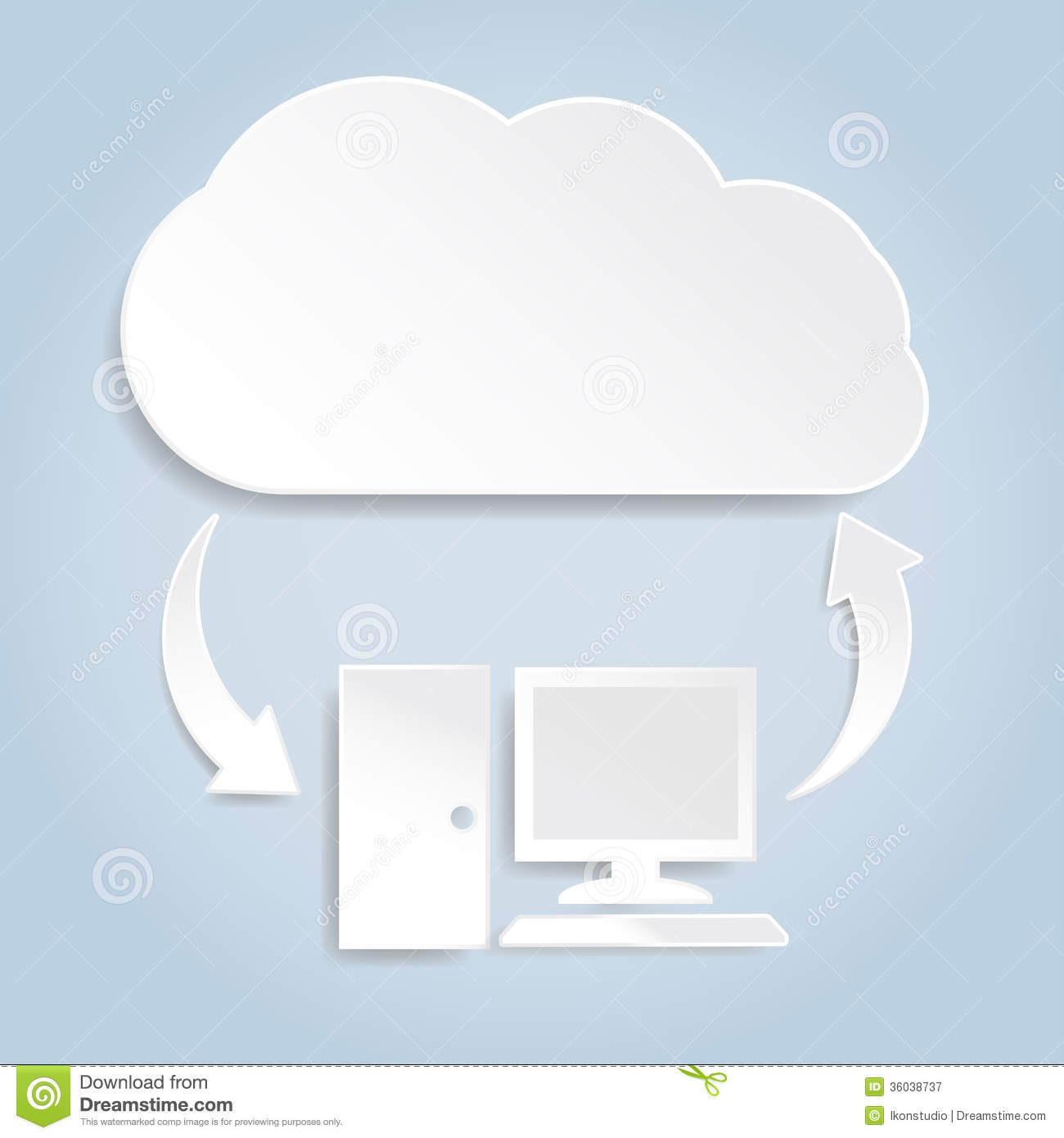paper cloud computing concept stock image image  royalty stock photo paper cloud computing