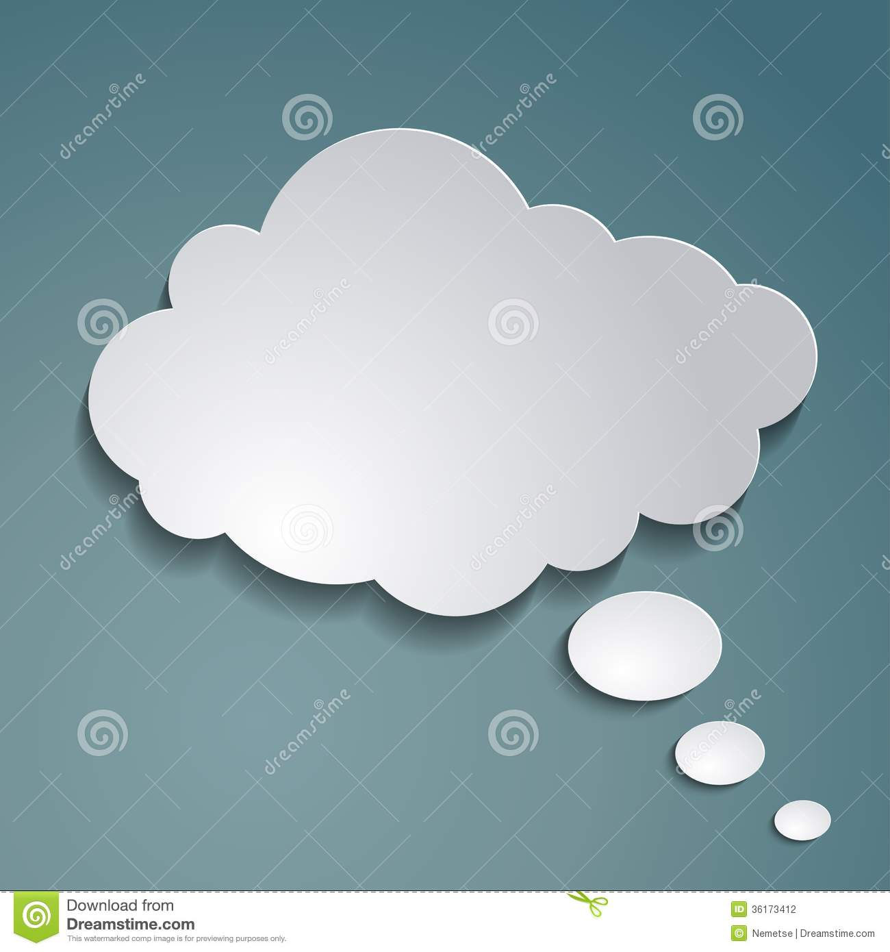 paper cloud for text stock photography