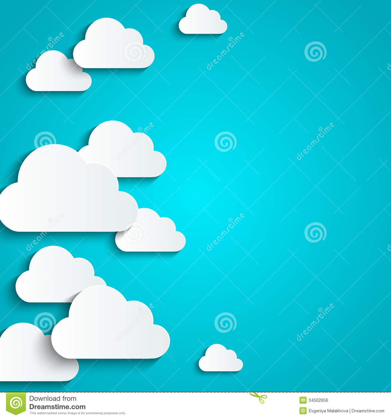Paper clouds royalty free stock image image 34502656 for How to make a paper cloud