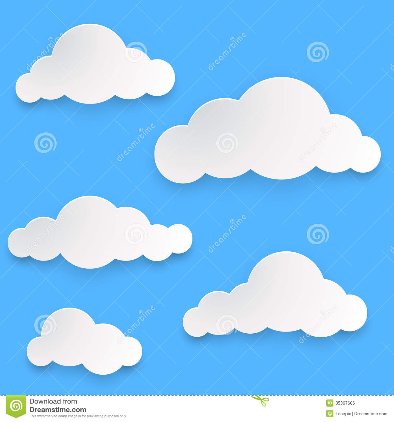paper clouds template stock vector illustration of modern 35367606