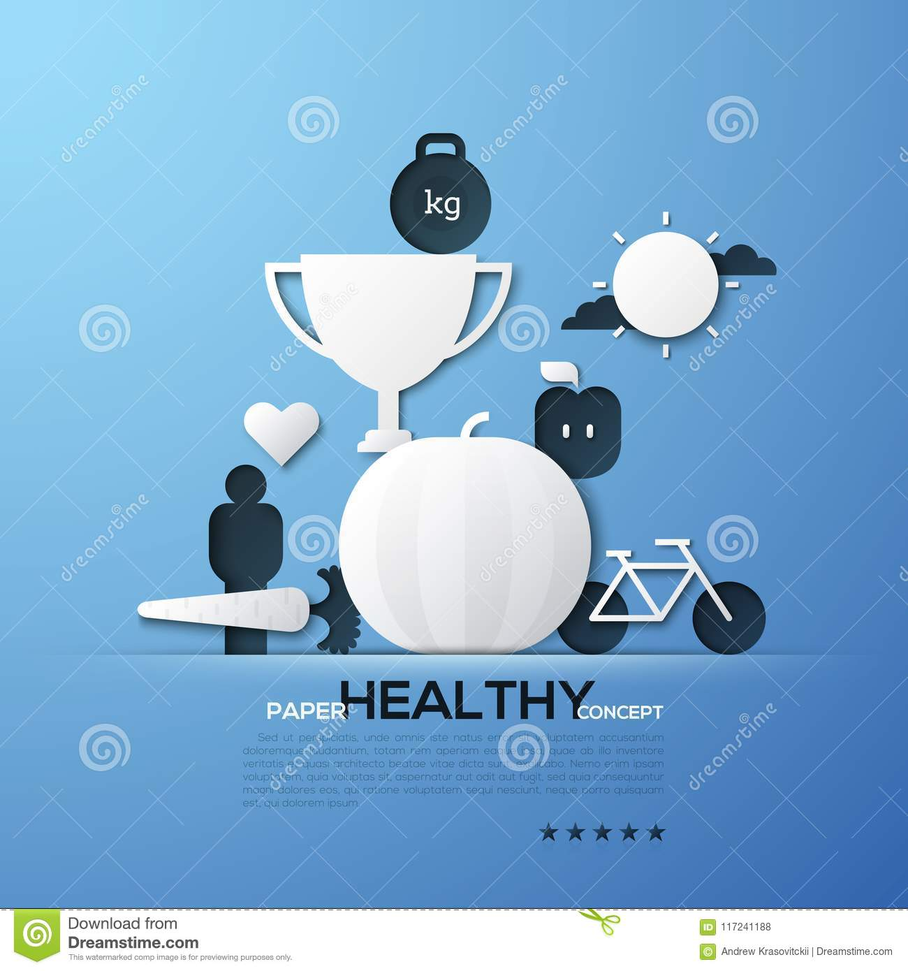 paper concept of healthy lifestyle nutrition fitness weight loss