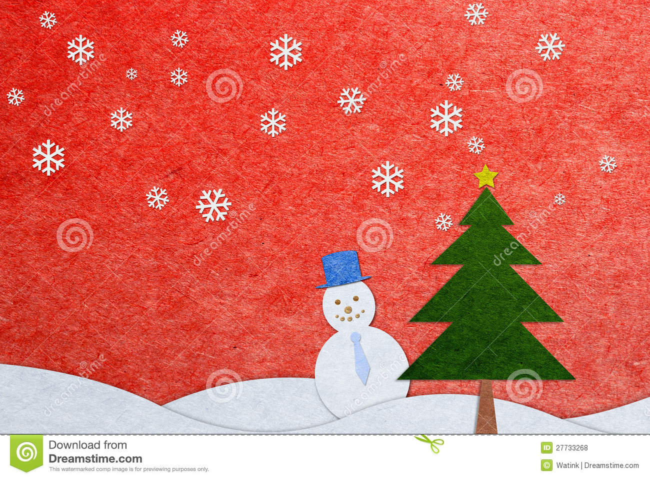 Paper craft christmas greeting card royalty free stock for Craft paper card stock