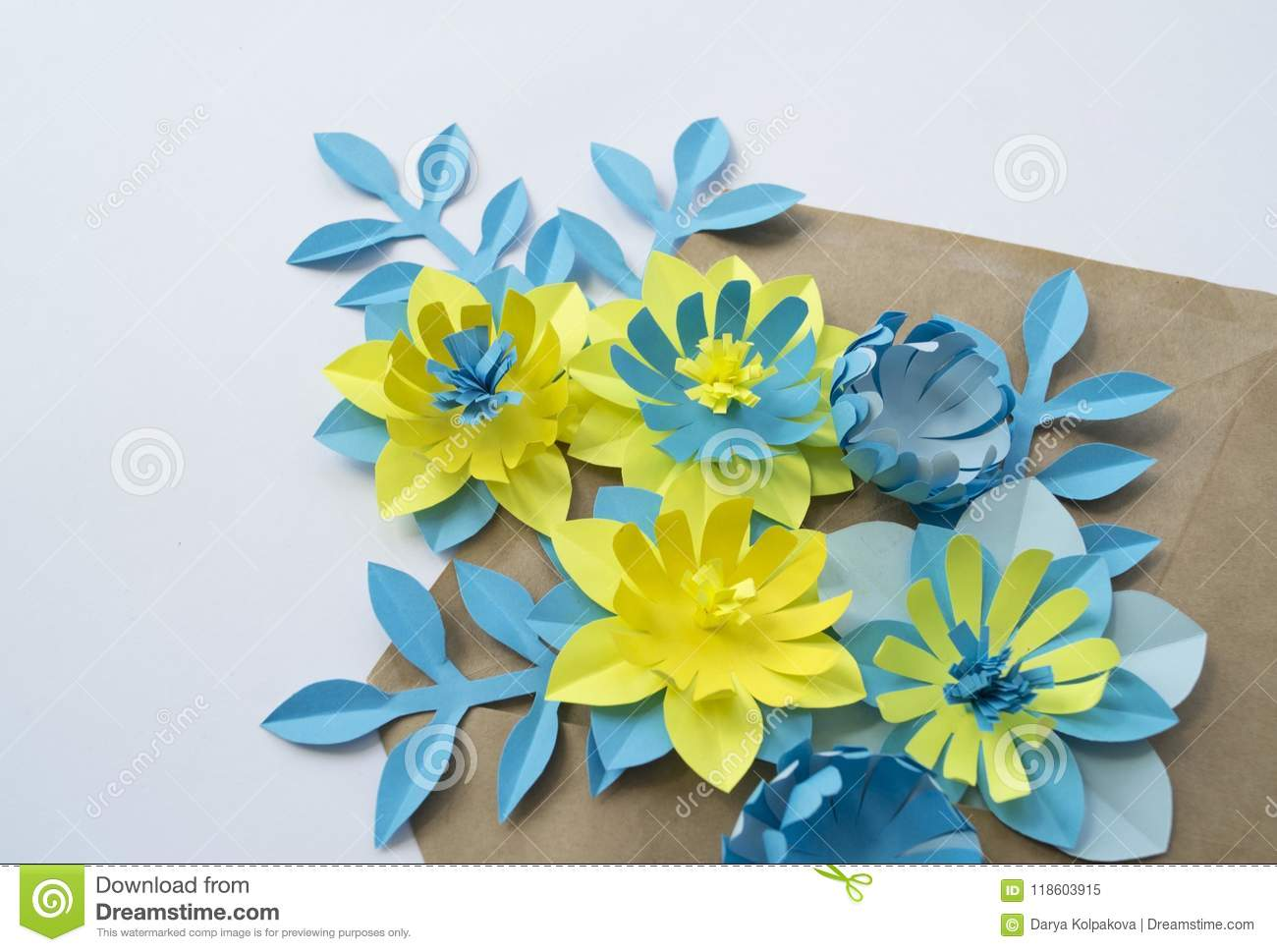 Paper Craft Flower Decoration Concept Stock Image Image Of