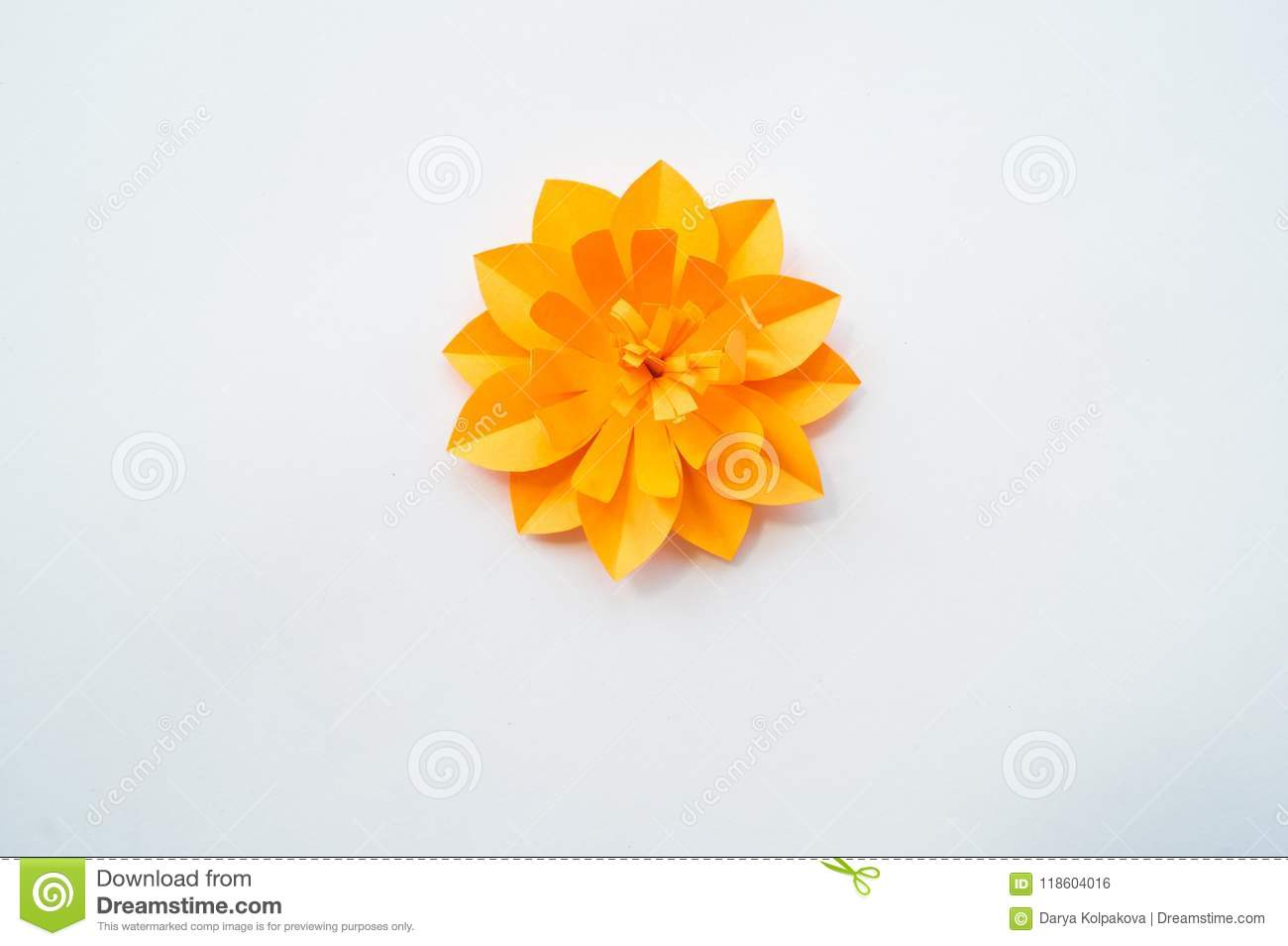 Paper Craft Flower Decoration Concept Stock Photo Image Of
