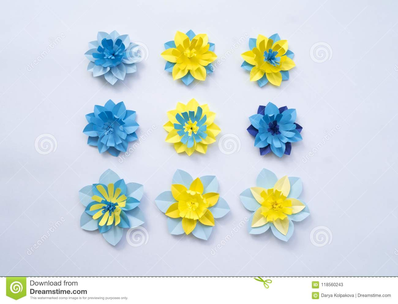 Paper Craft Flower Decoration Concept Stock Image Image Of Gift