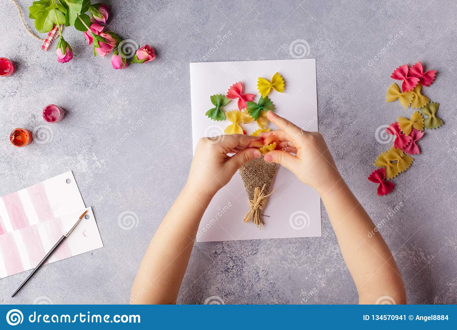 Paper Crafts For Mother Day 8 March Or Birthday Small Child Doing