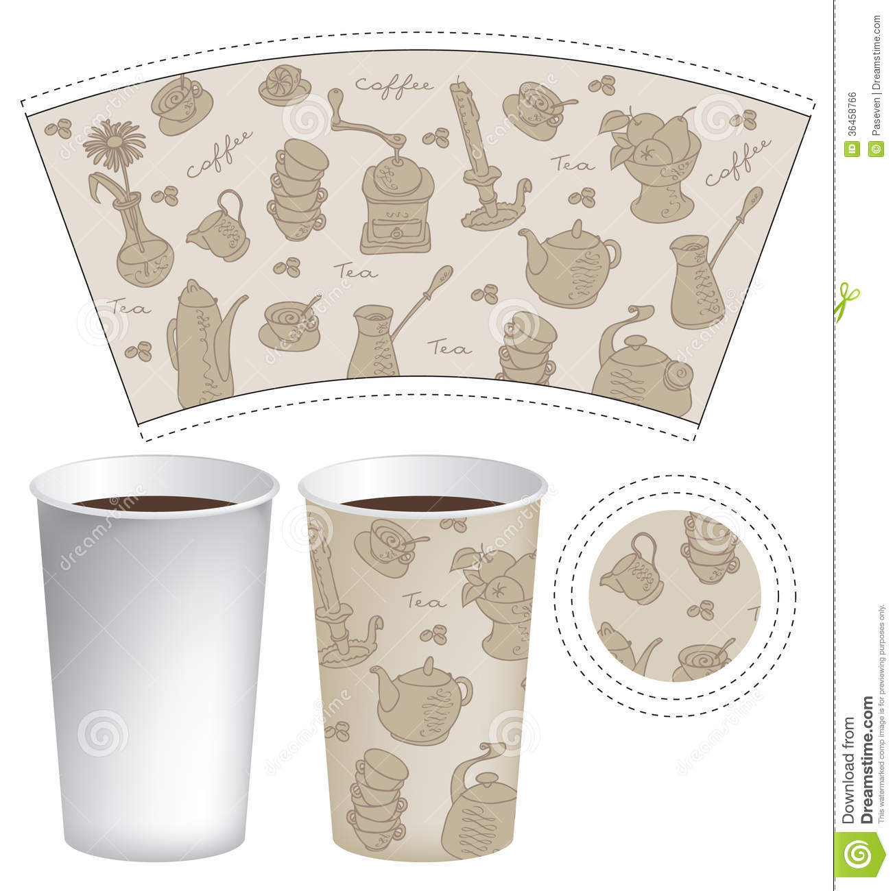 Paper cup for coffee stock vector. Illustration of ...