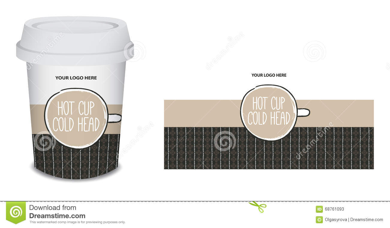 paper cup mug coffee design in vector stock vector illustration of