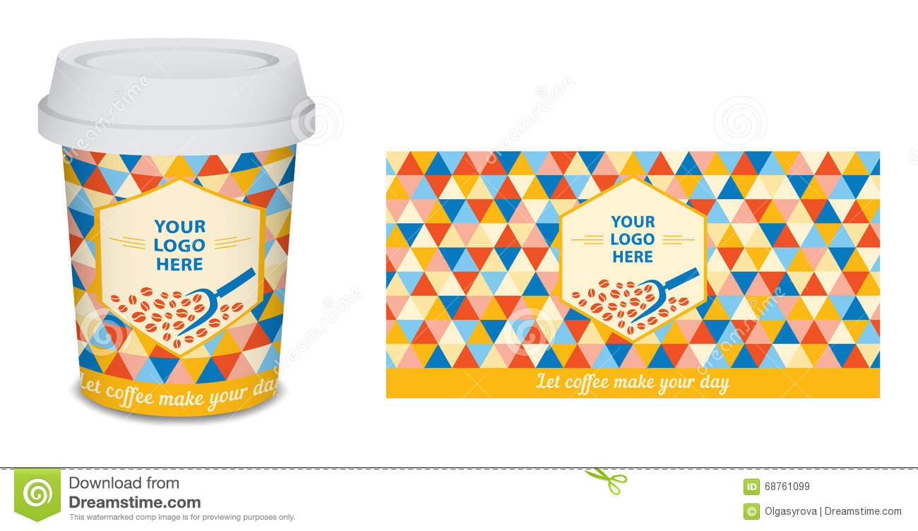 paper cup mug coffee design for your company in vector stock vector