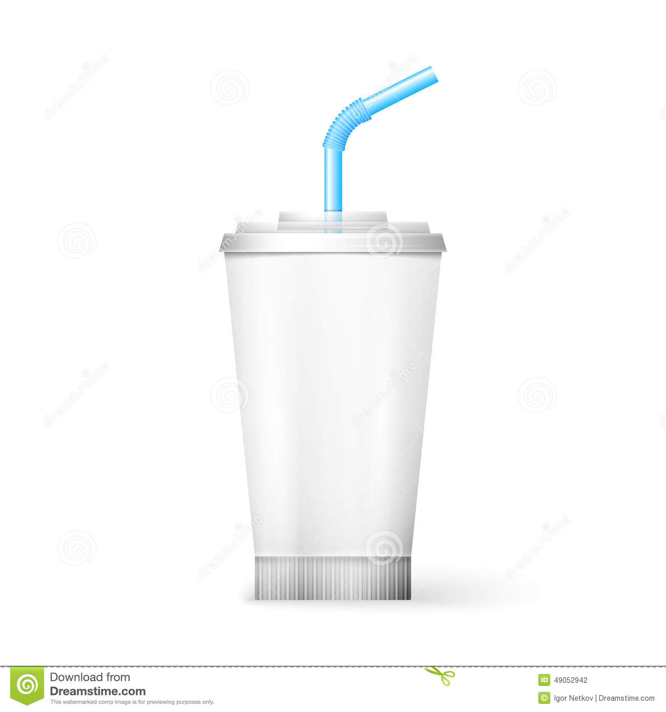 Paper Cup Template For Soda Stock Vector Image 49052942
