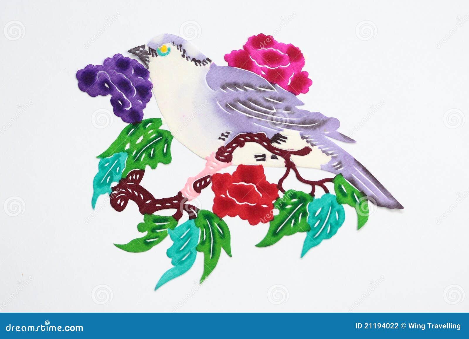Paper-cut of bird