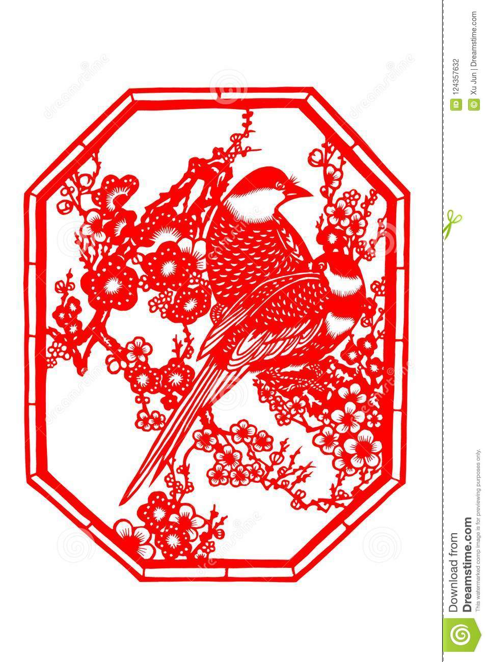 chinese paper cutting templates bird www