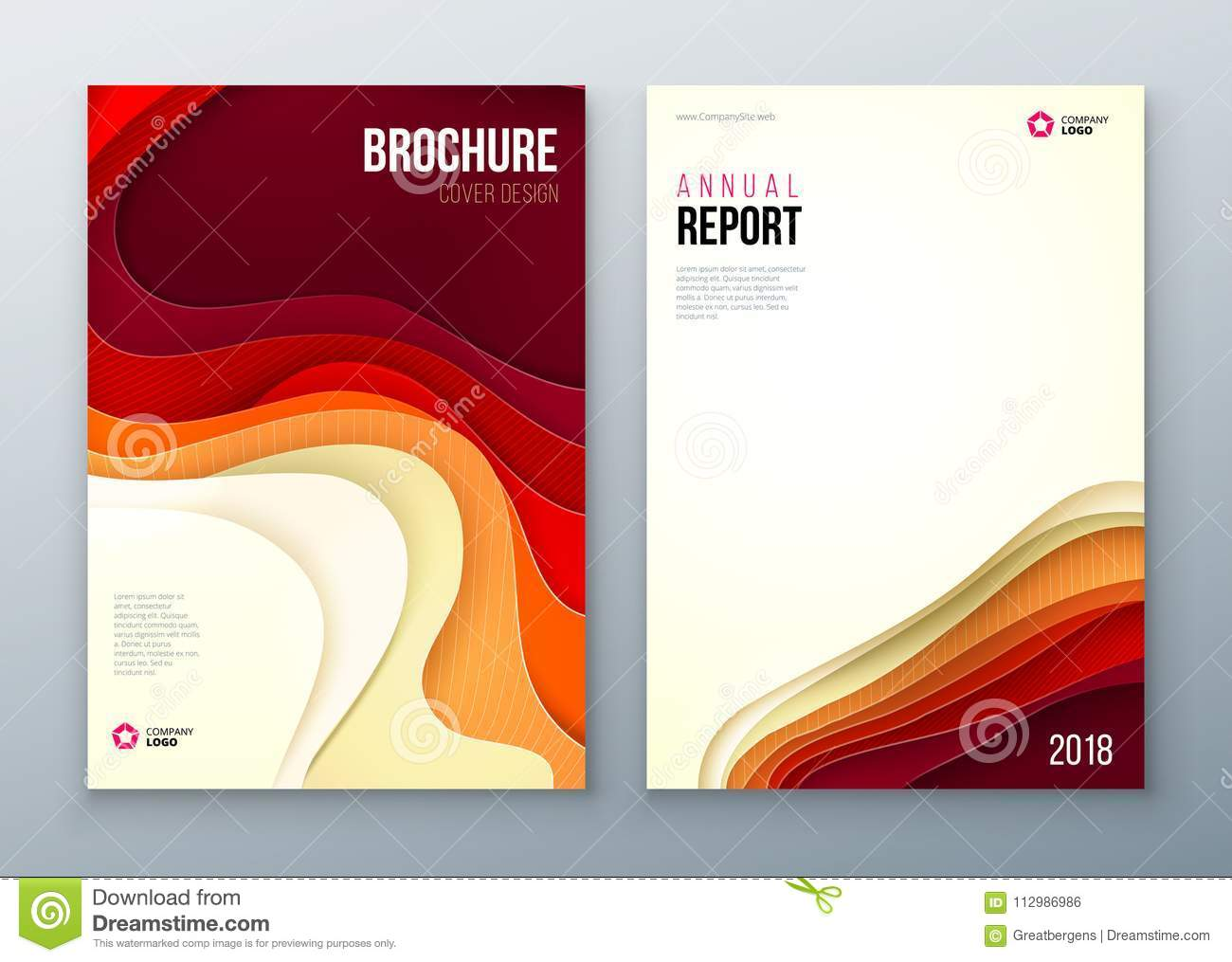 Paper cut brochure design. Paper carve abstract cover for brochure flyer magazine annual report or catalog design