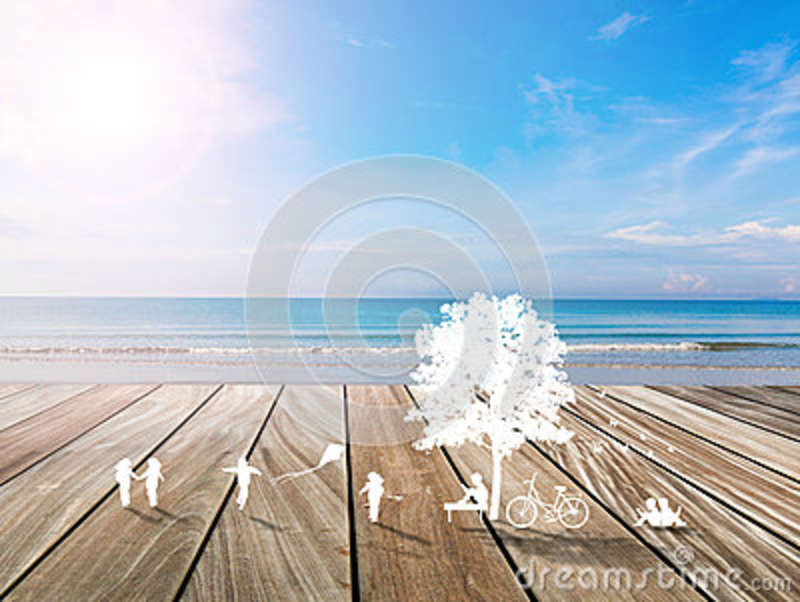 Paper cut of children play in summer time on white background