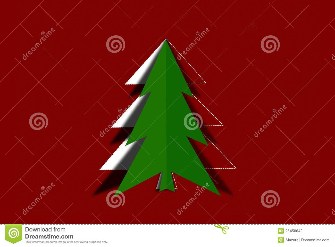 how to cut christmas tree paper