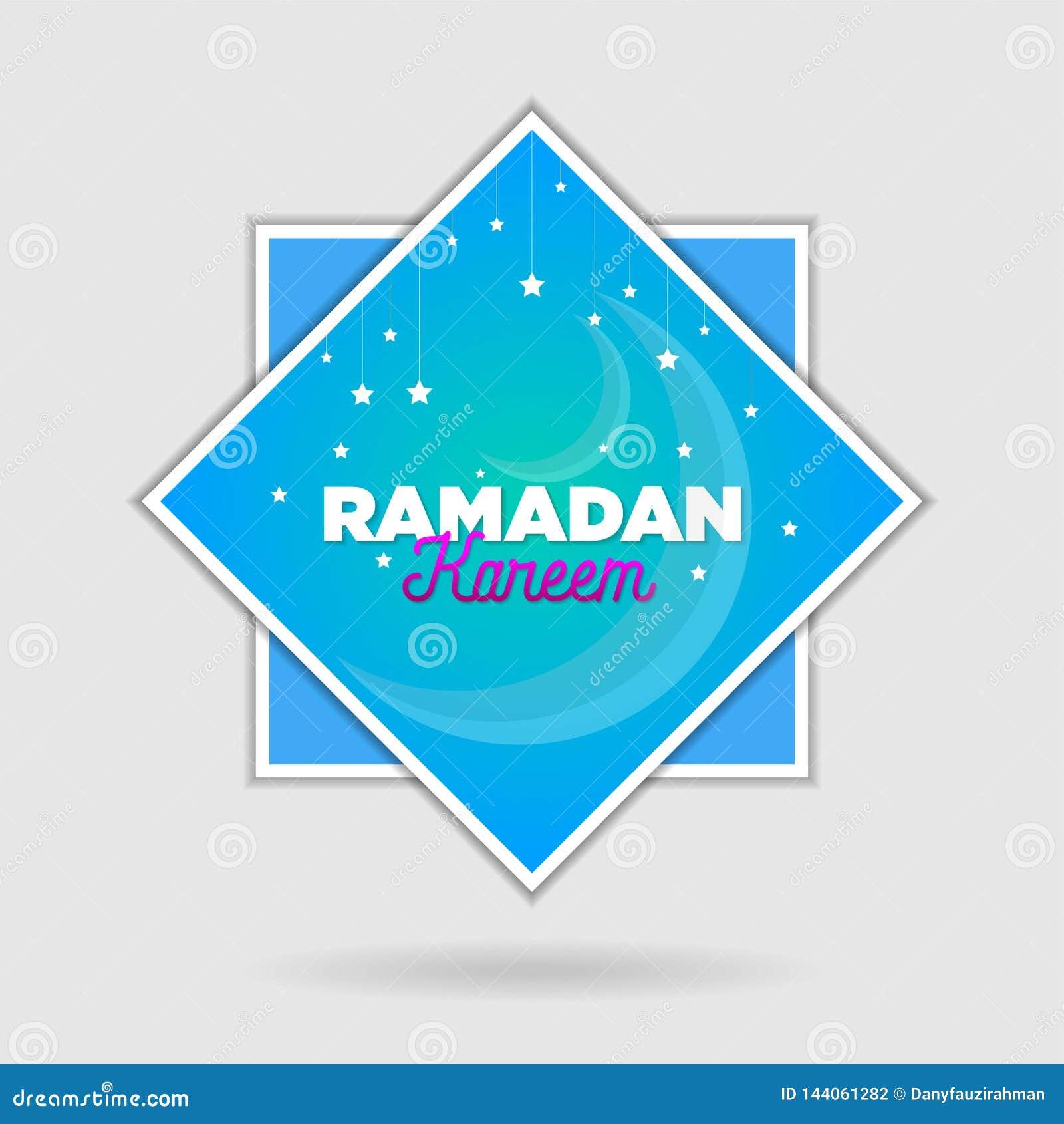Paper cut islamic flat modern design holidays ramadan_04