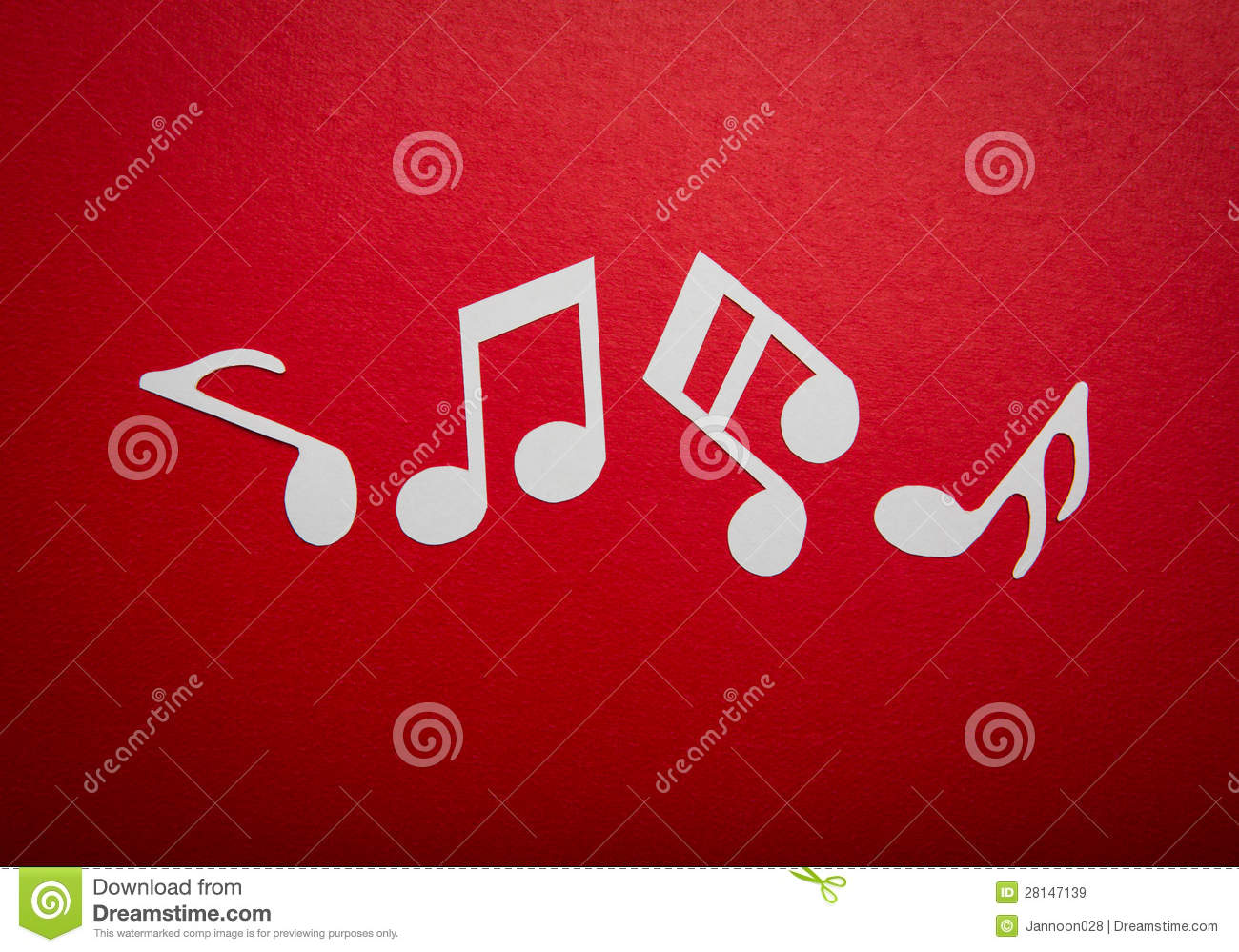 paper cut of music note with copy space stock image