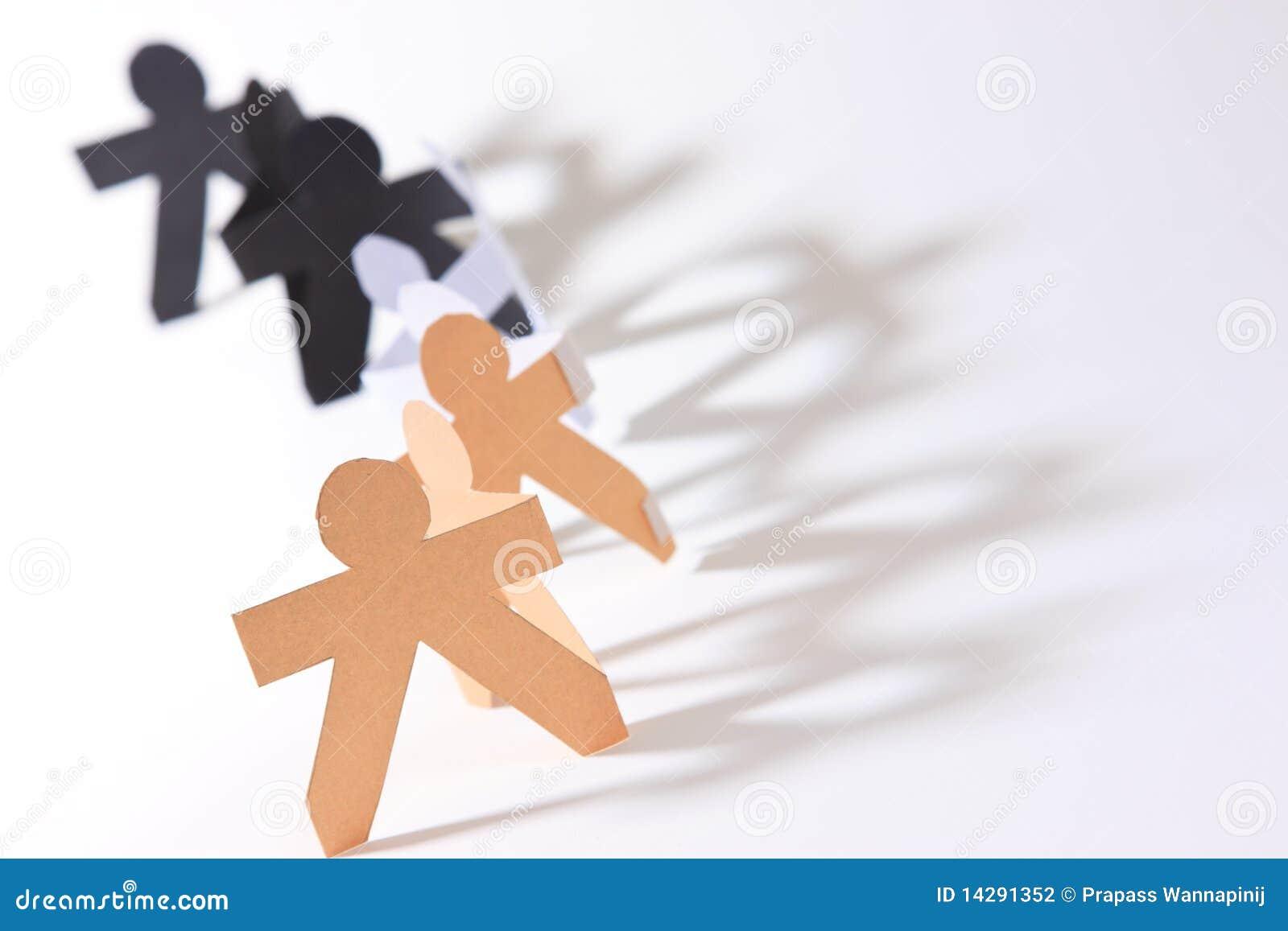 Racial Equality Symbol Show human race equality