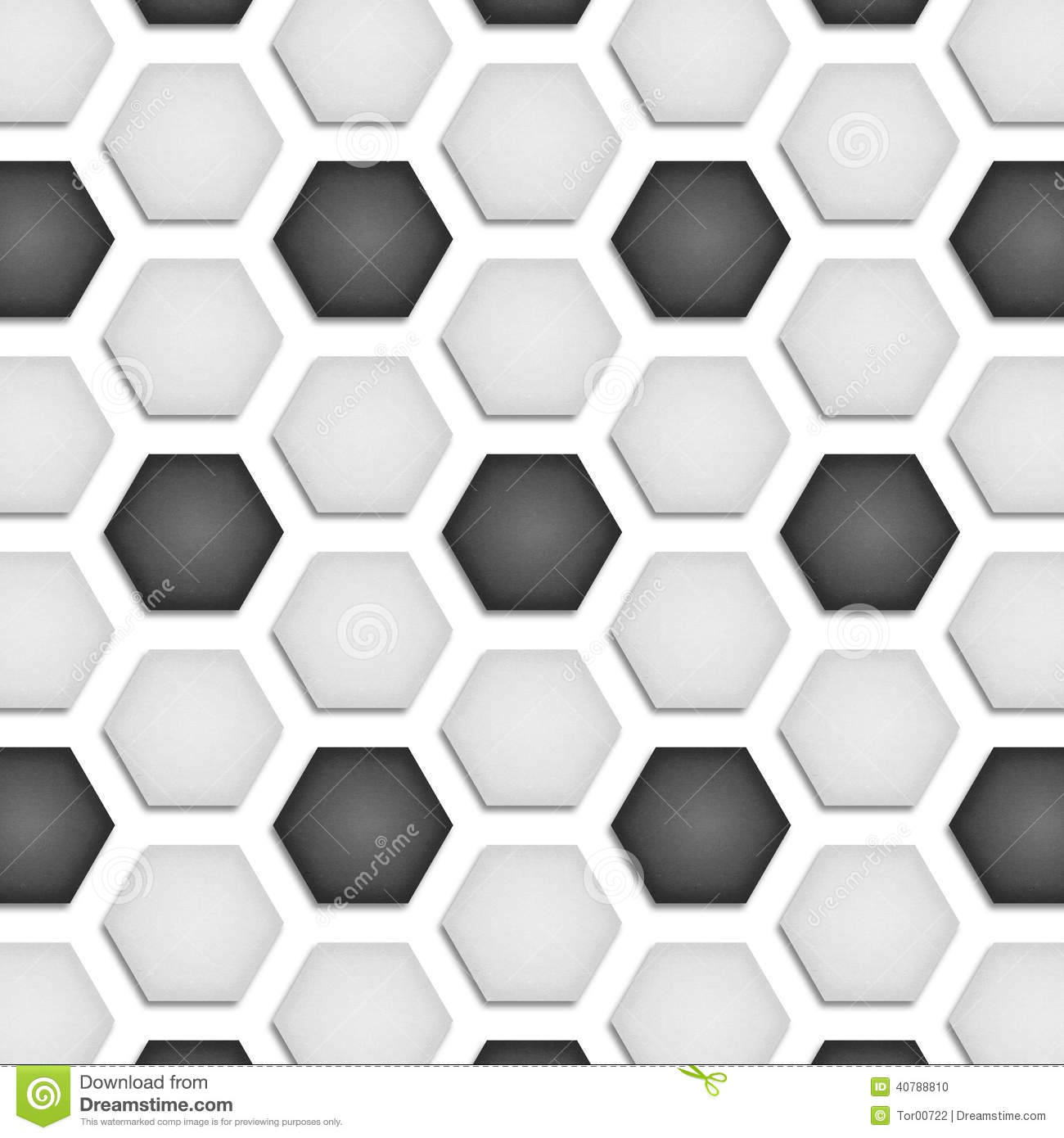 Paper Cut Of Soccer, Football Texture Is Black And White Hexagon Stock Illustration - Image ...