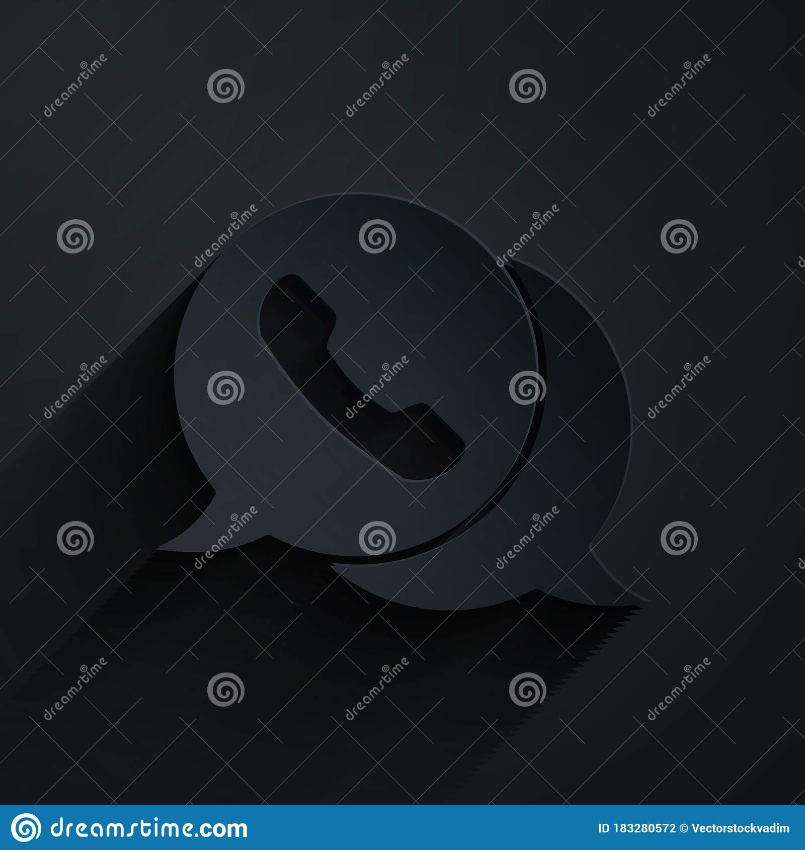 Paper Cut Telephone With Speech Bubble Chat Icon Isolated On Black Background Support Customer Service Hotline Call Stock Vector Illustration Of Hotline Music 183280572